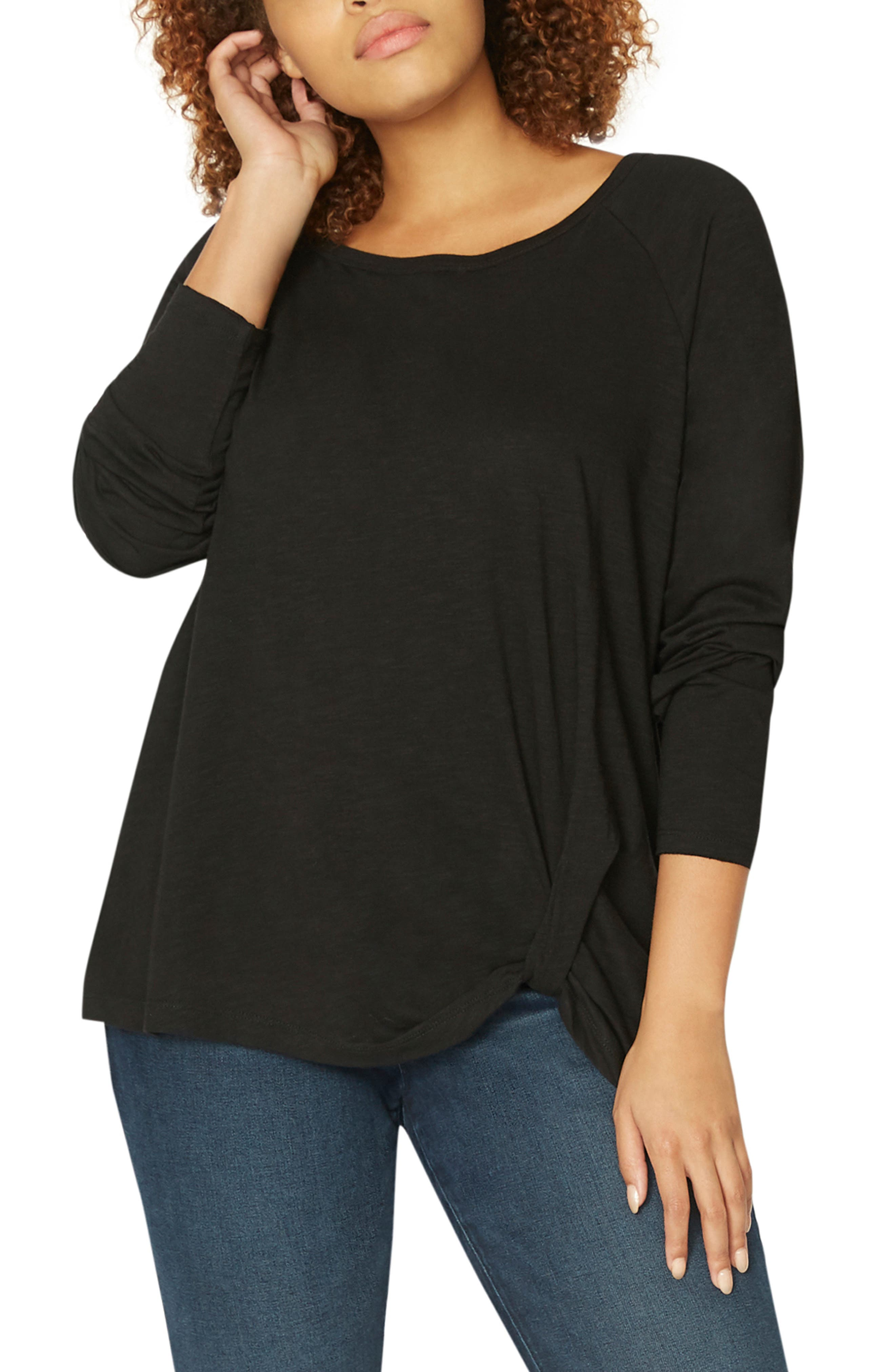 So Twisted Tee,                         Main,                         color, BLACK