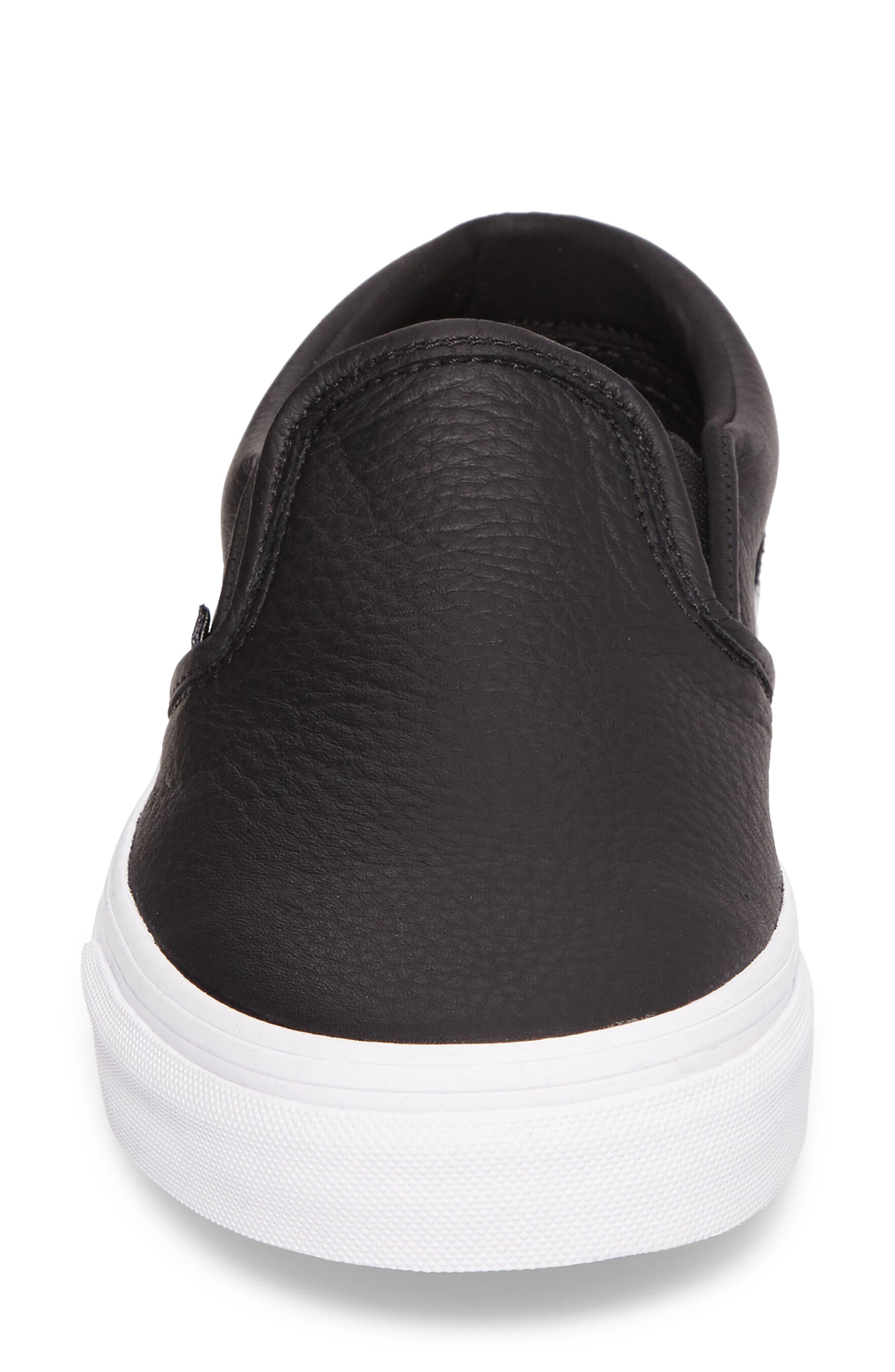 Classic Slip-On Sneaker,                             Alternate thumbnail 4, color,                             BLACK/ TRUE WHITE