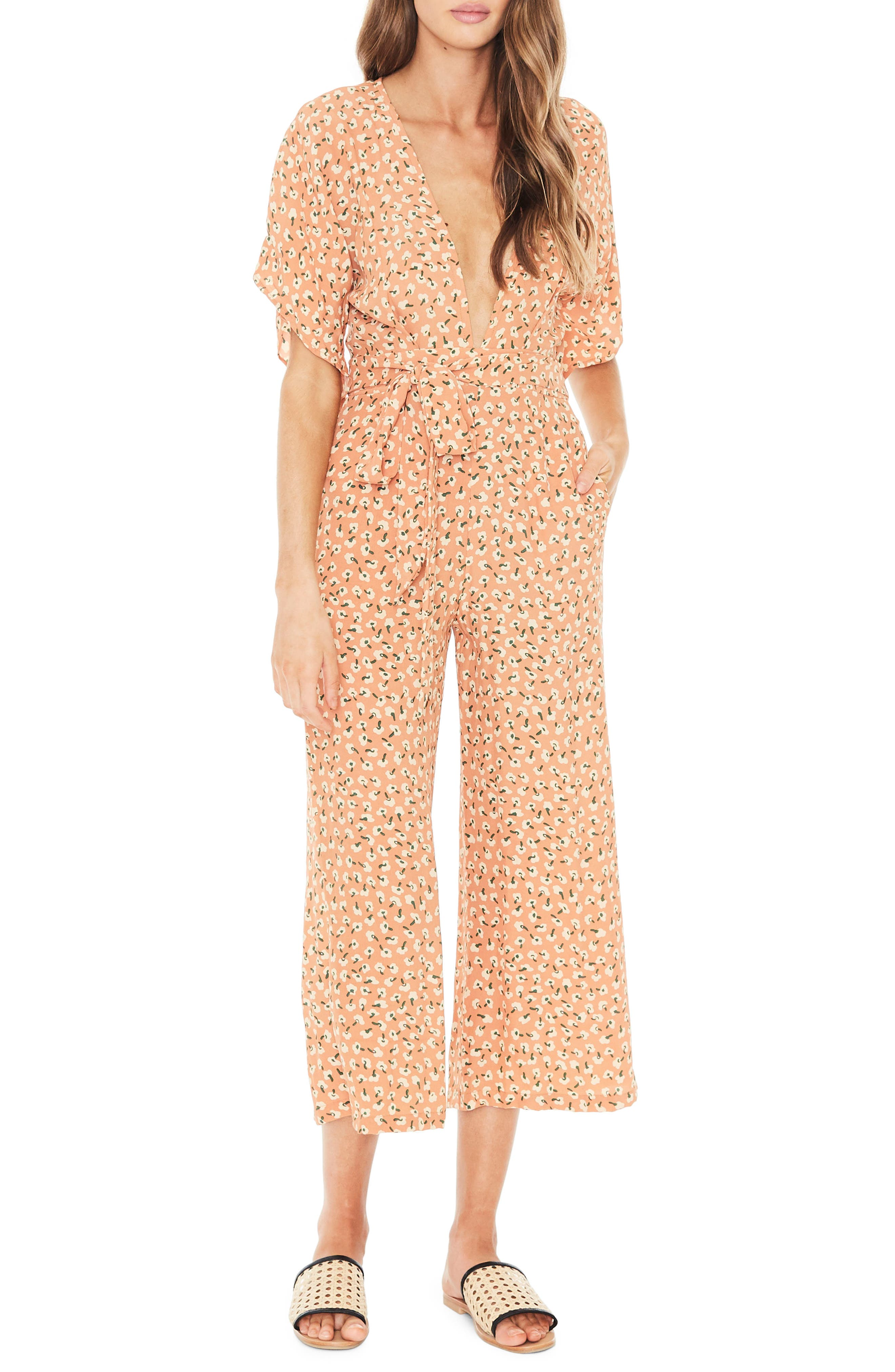 Cedric Plunging Crop Jumpsuit,                             Main thumbnail 1, color,                             800