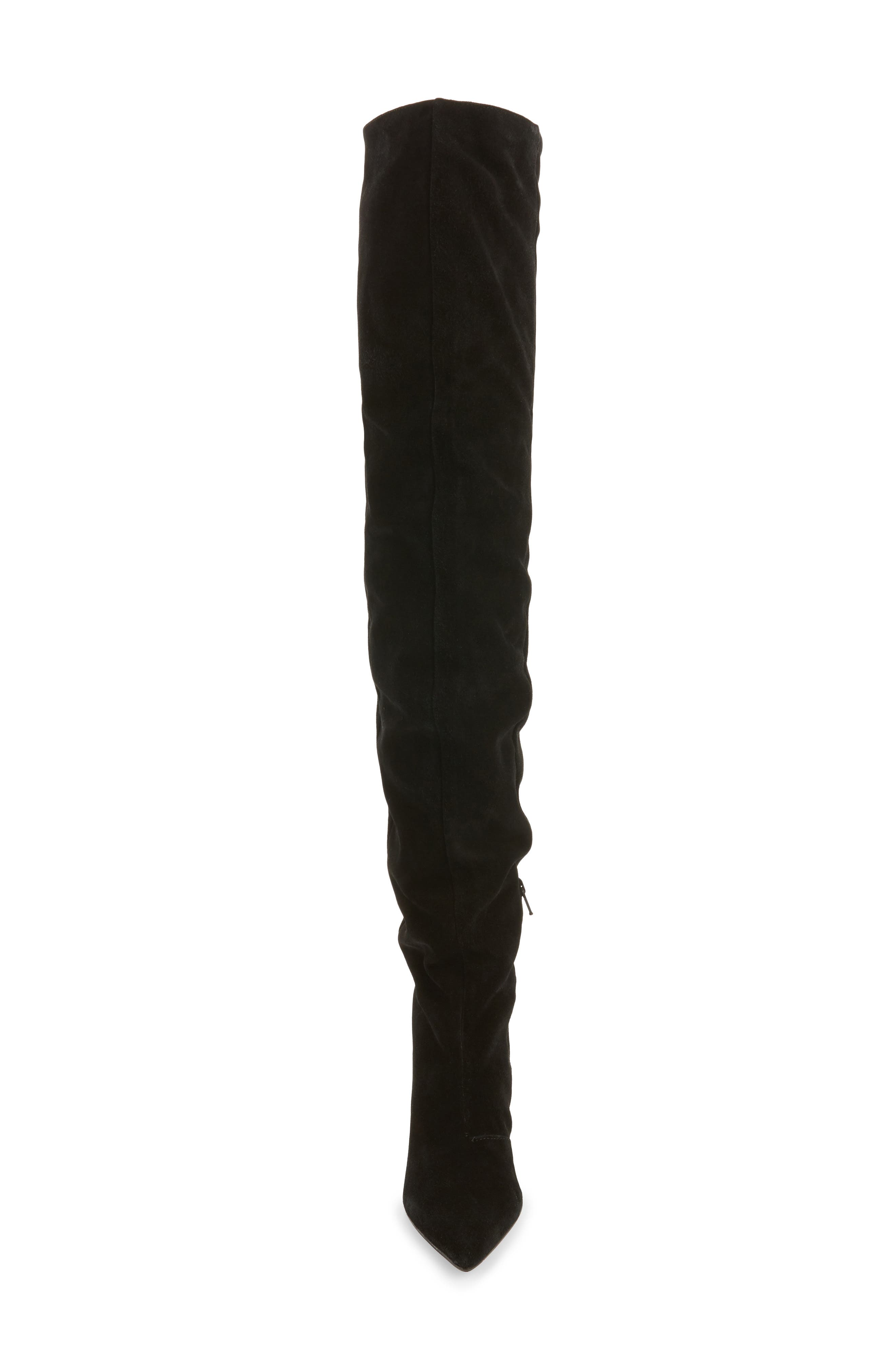Boxer Thigh High Boots,                             Alternate thumbnail 4, color,                             001