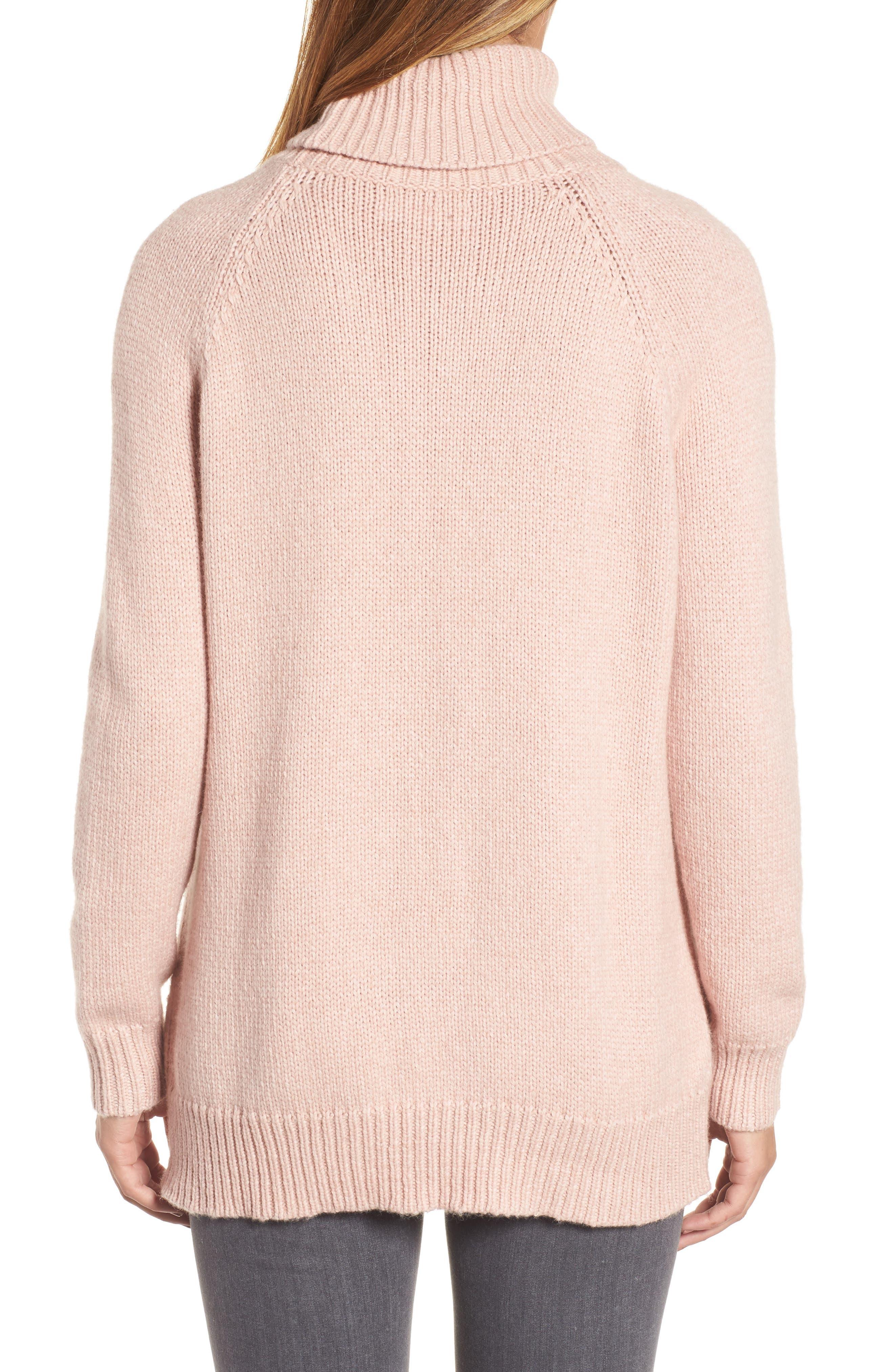 Textured Turtleneck Sweater,                             Alternate thumbnail 4, color,