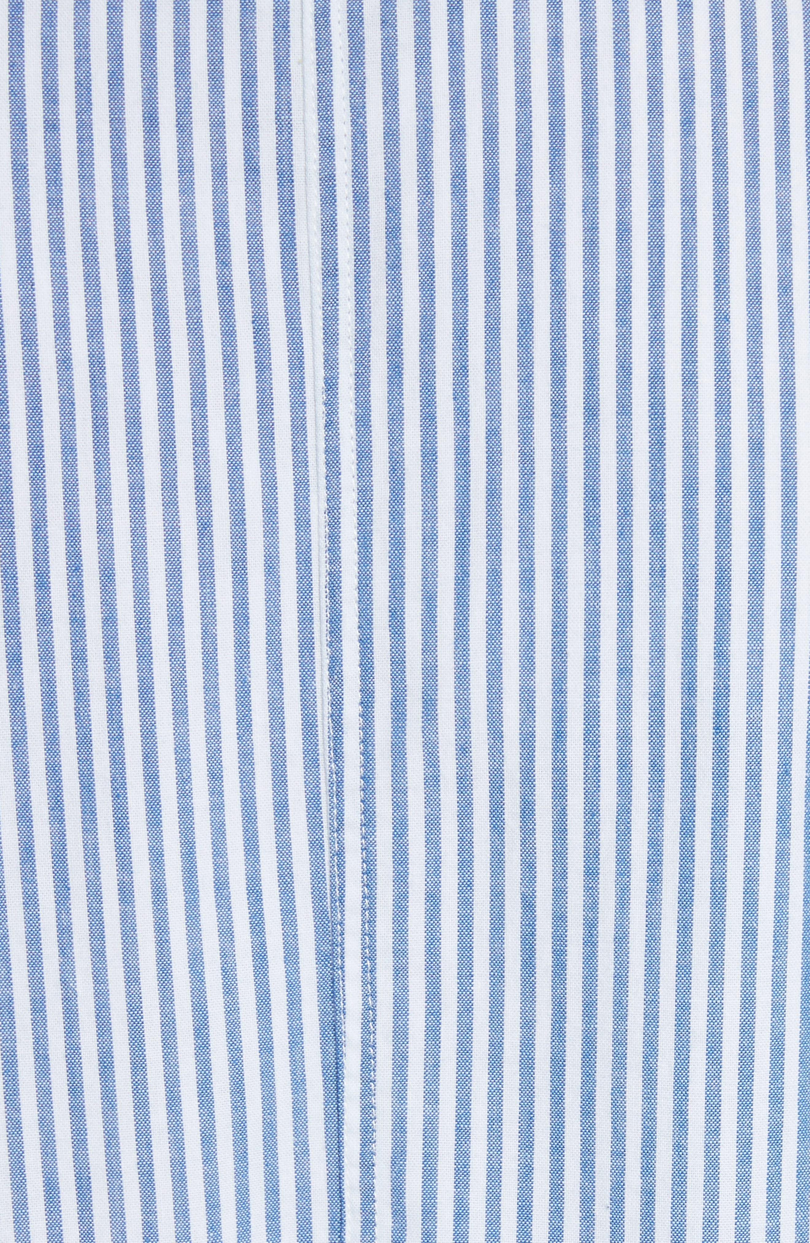 Stripe Bubble Hem Jacket,                             Alternate thumbnail 6, color,                             400