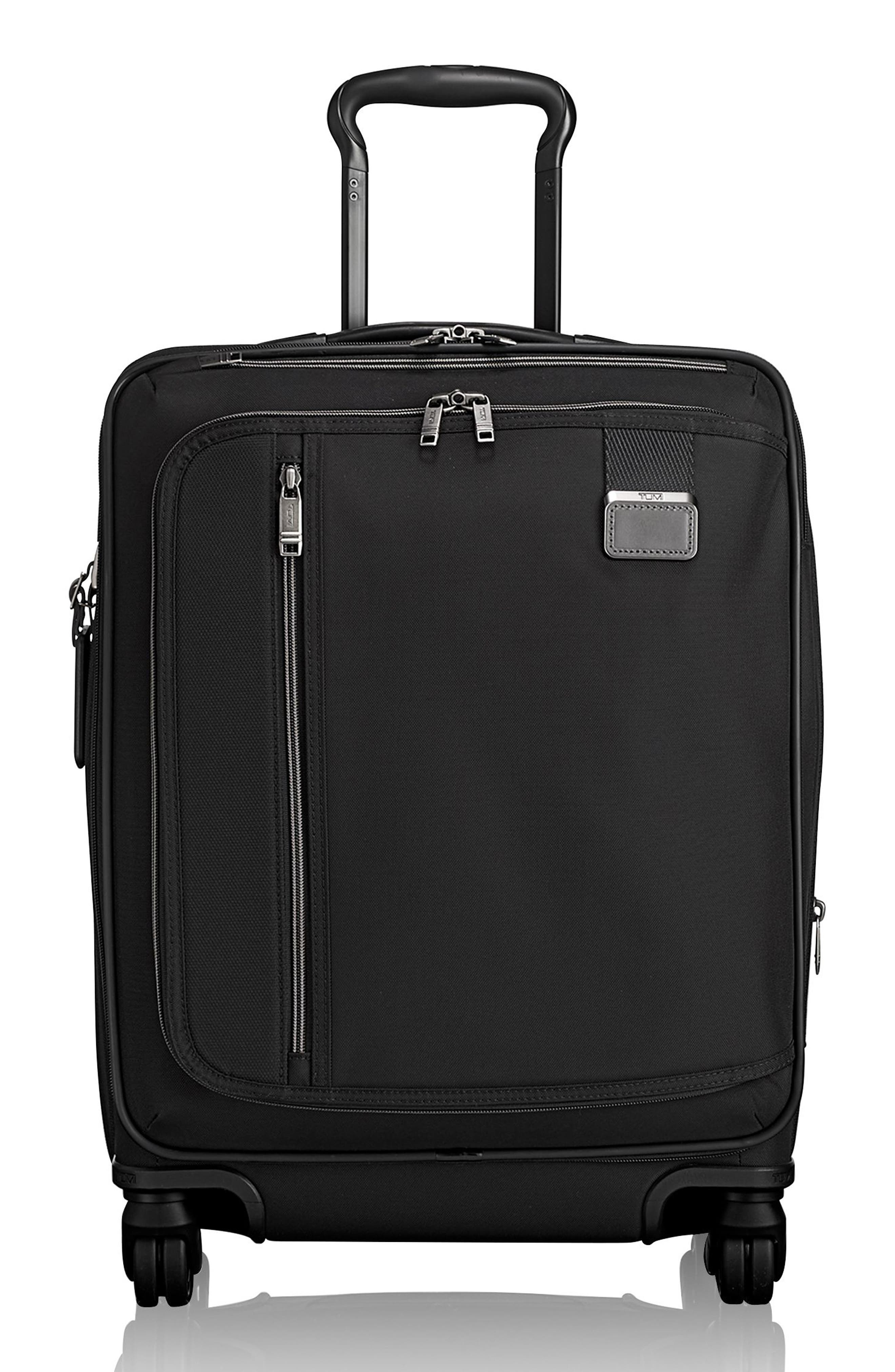 Merge - 22-Inch Continental Expandable Rolling Carry-On, Main, color, BLACK CONTRAST
