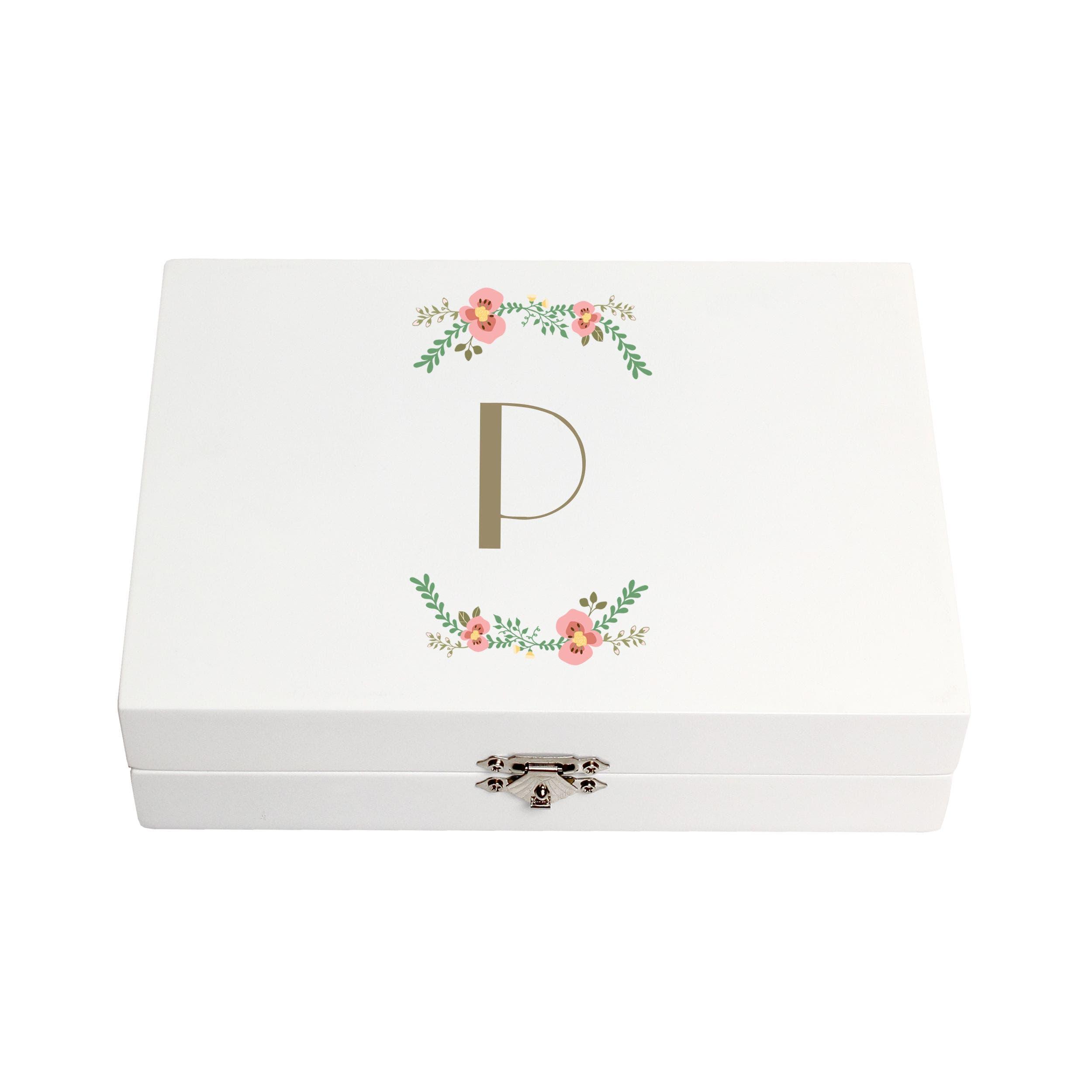 Monogram Floral Wedding Ring Box,                             Main thumbnail 16, color,
