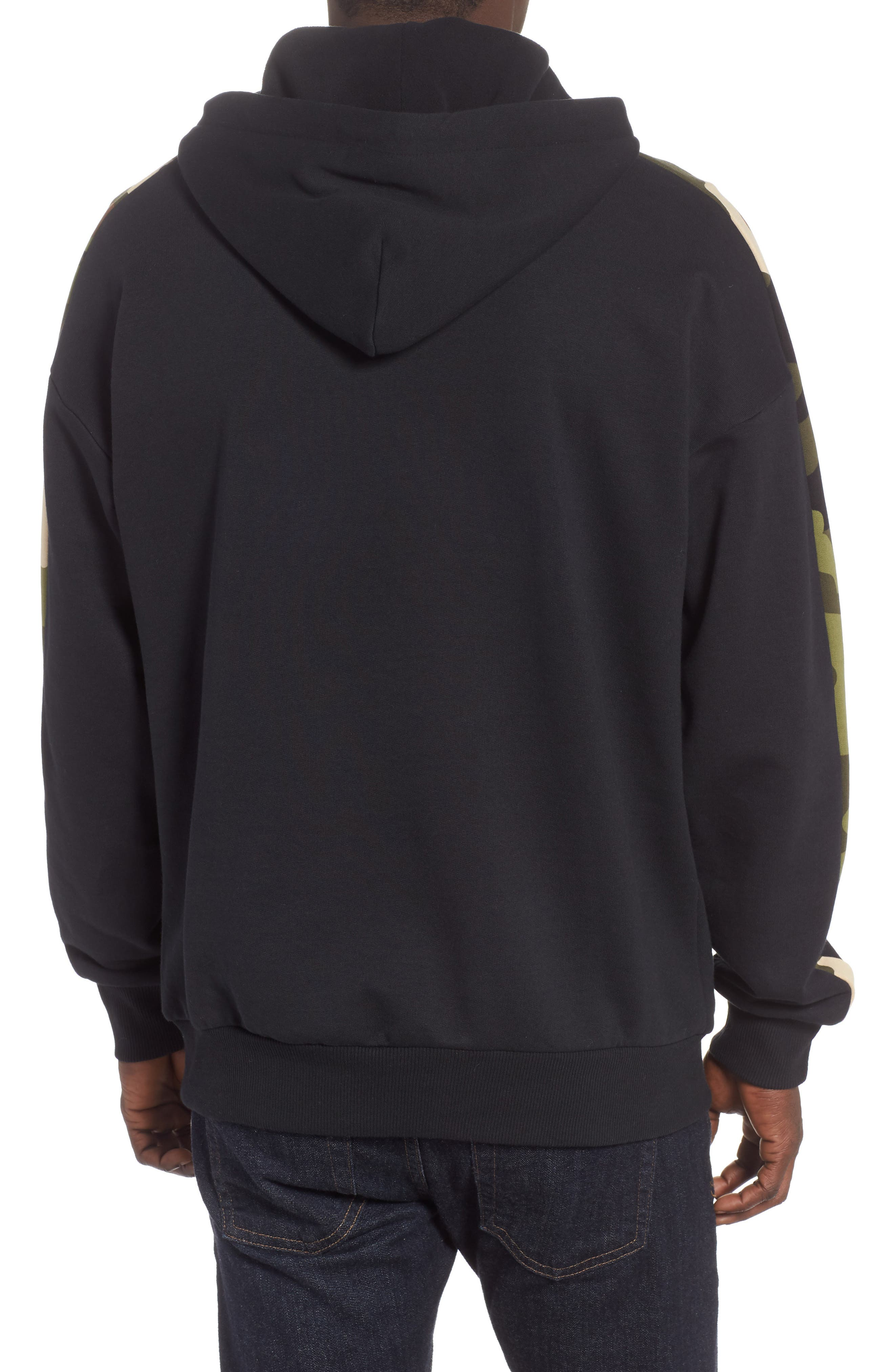 Wild Pack Track Hooded Sweatshirt,                             Alternate thumbnail 2, color,                             PUMA BLACK