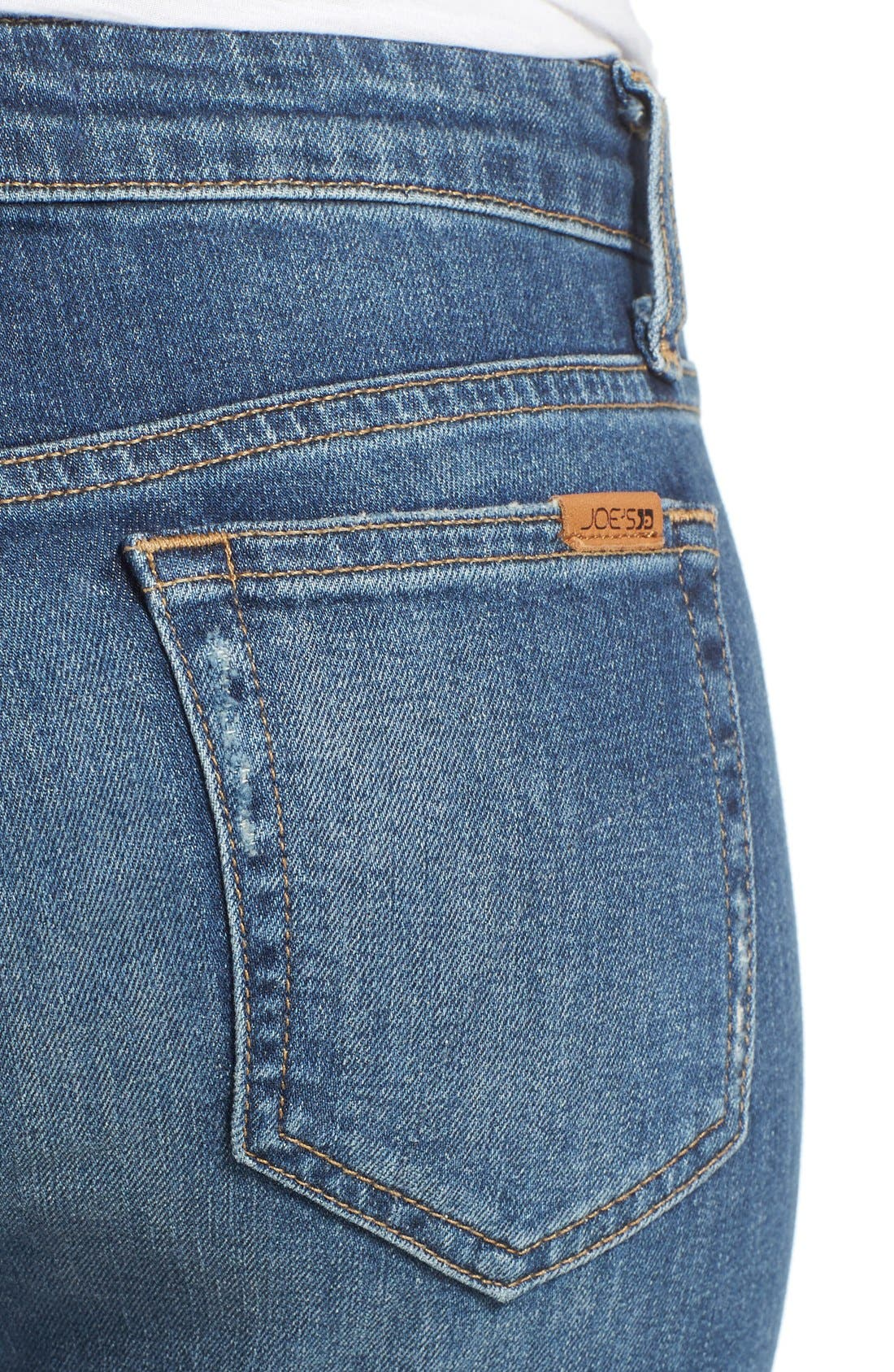 'Icon' Distressed Crop Skinny Jeans,                             Alternate thumbnail 5, color,                             430