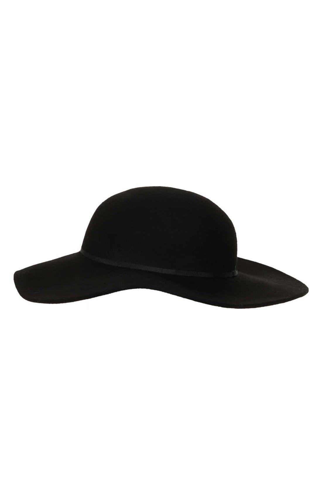 TOPSHOP Floppy Wool Felt Hat, Main, color, 001