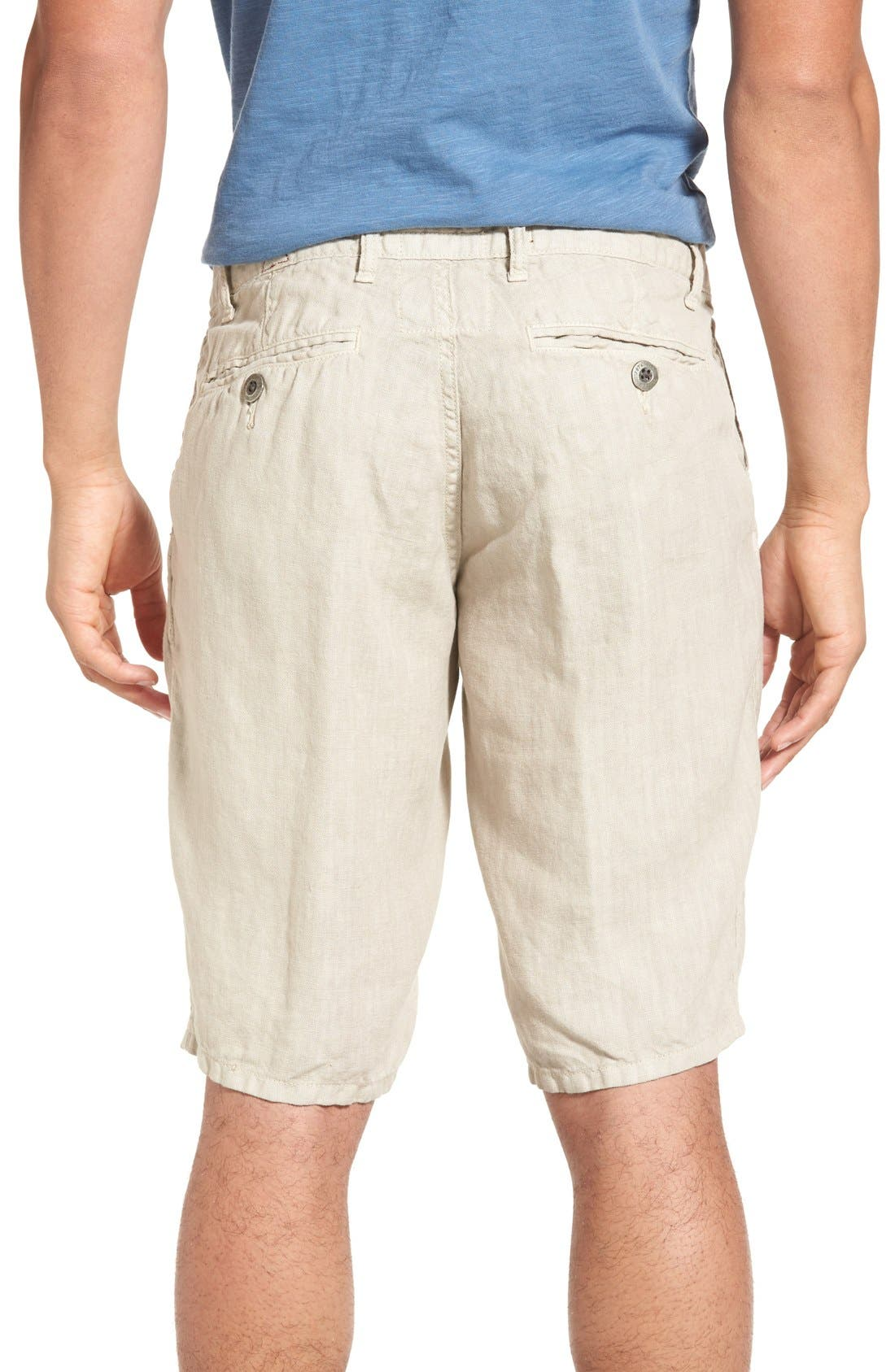 'Havana' Linen Shorts,                             Alternate thumbnail 23, color,