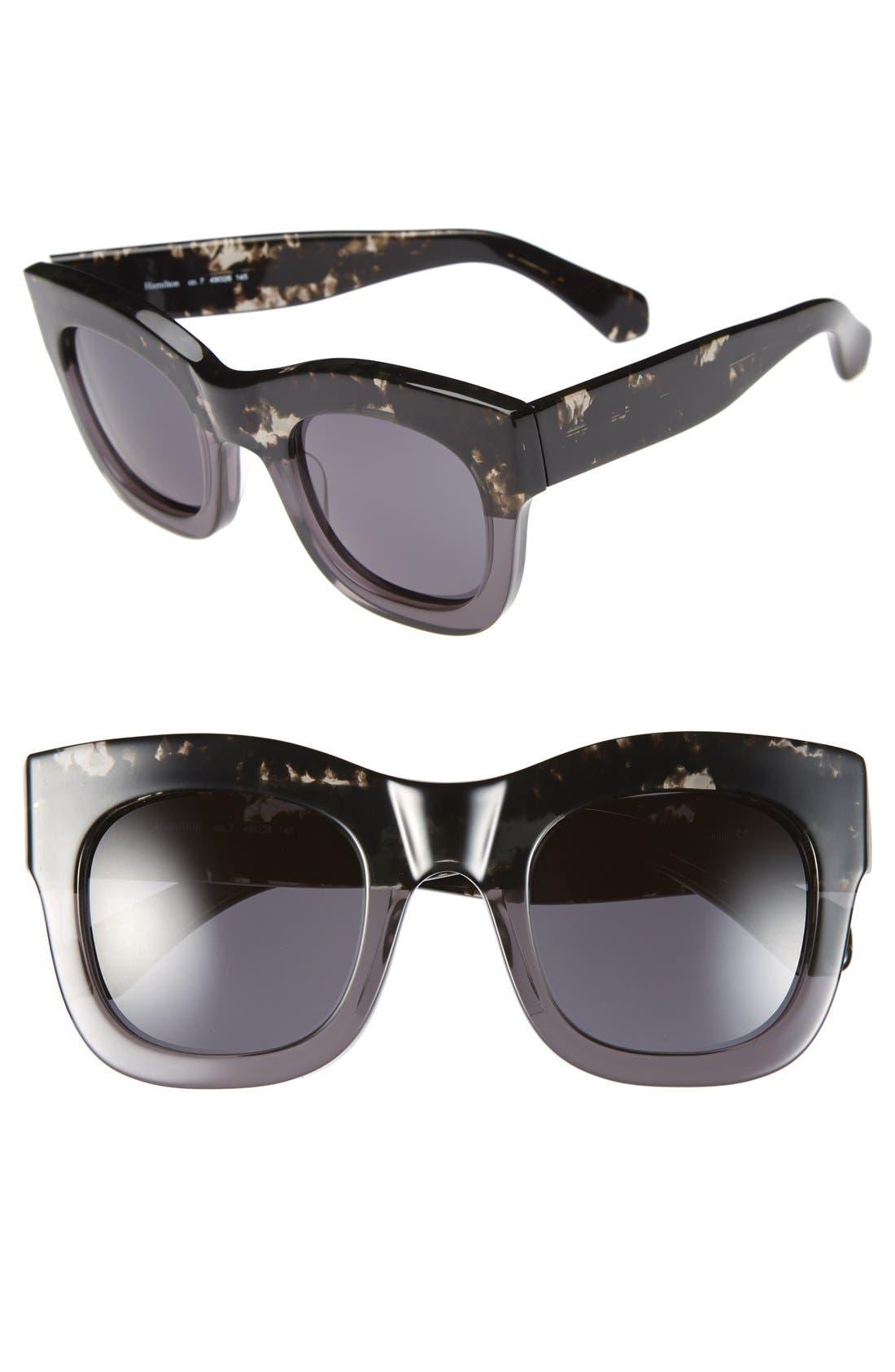 'Hamilton' 49mm Retro Sunglasses,                             Main thumbnail 4, color,
