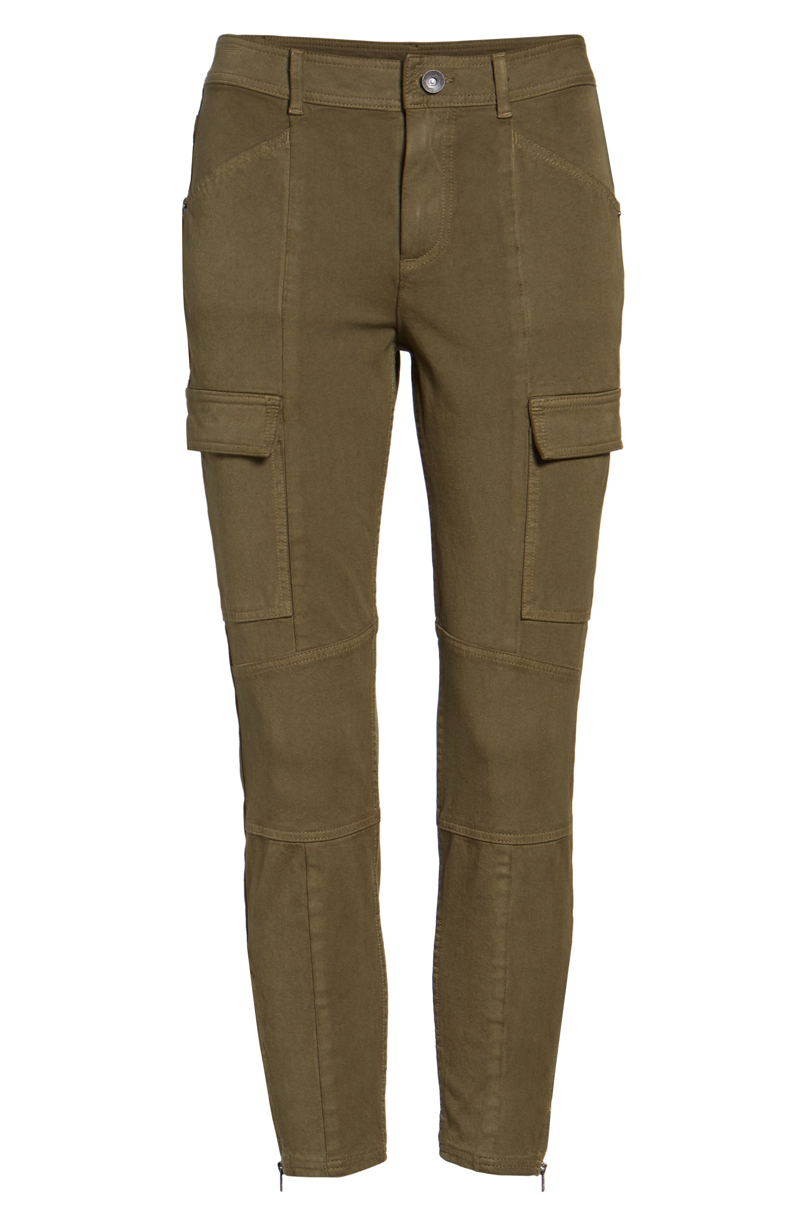 Stretch Twill Cargo Pants,                             Alternate thumbnail 6, color,                             001