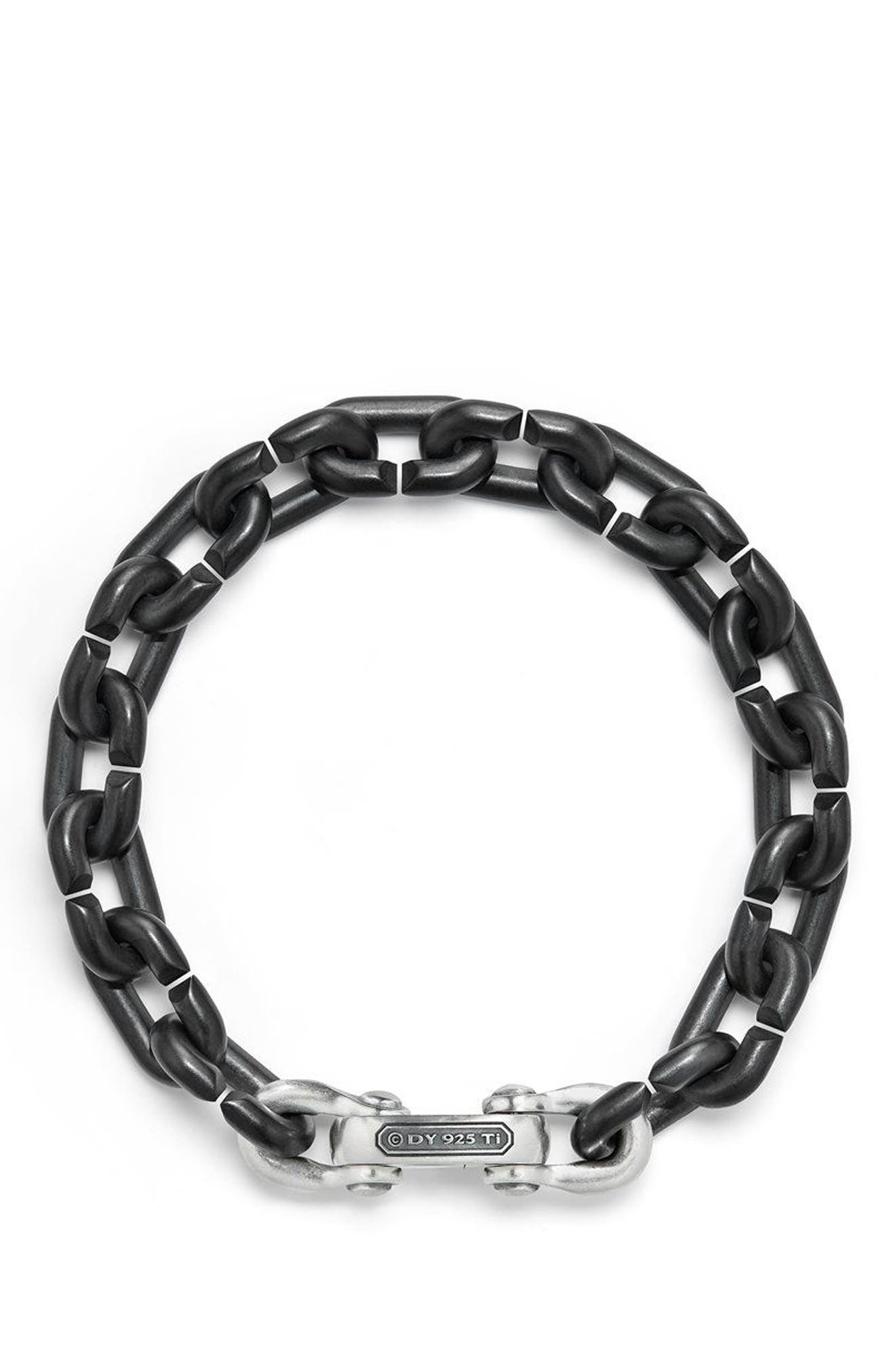 DAVID YURMAN,                             Bold Chain Links Bracelet,                             Alternate thumbnail 2, color,                             TITANIUM