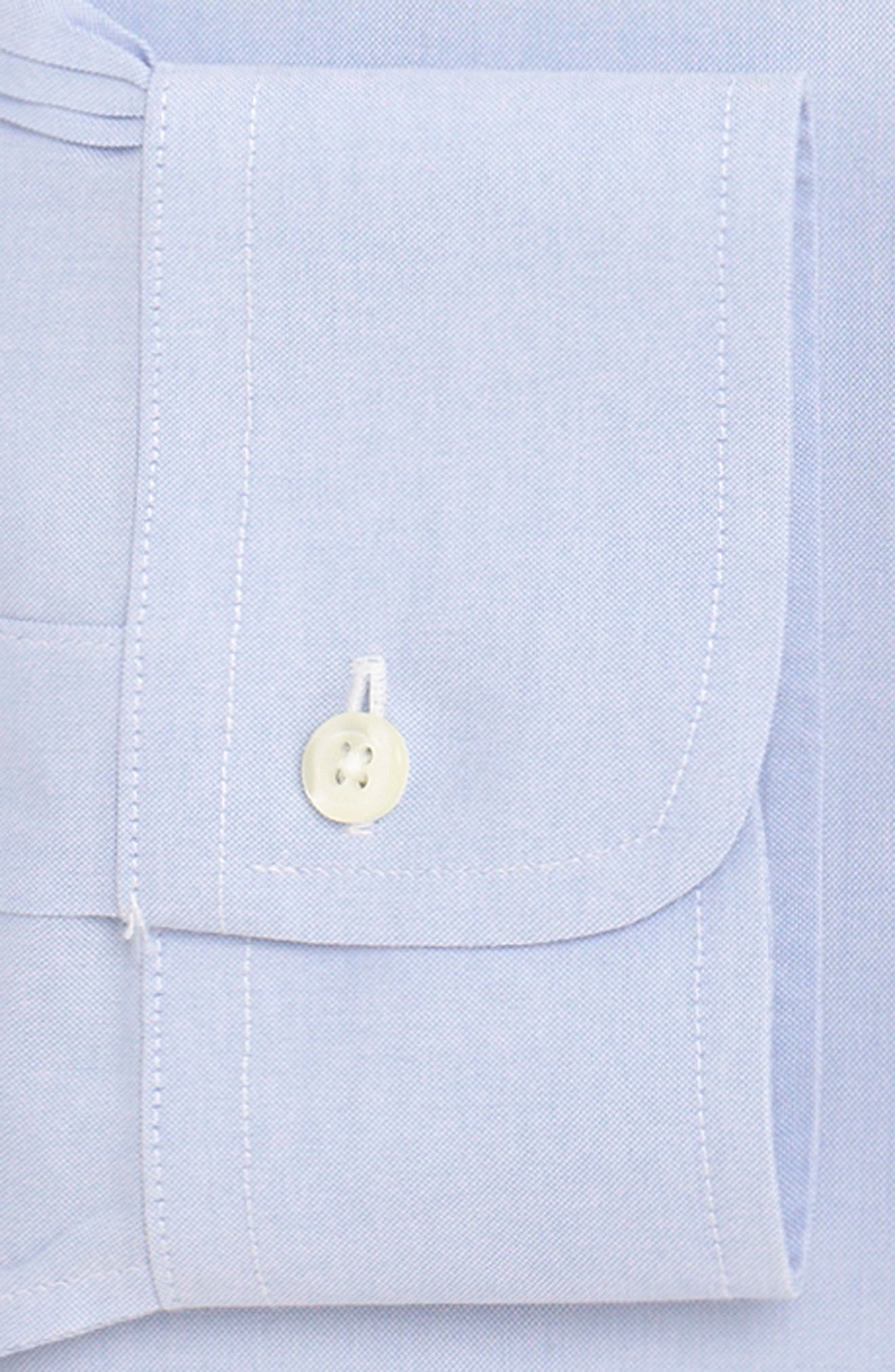 Trim Fit Solid Dress Shirt,                             Alternate thumbnail 2, color,                             LIGHT/ PASTEL BLUE