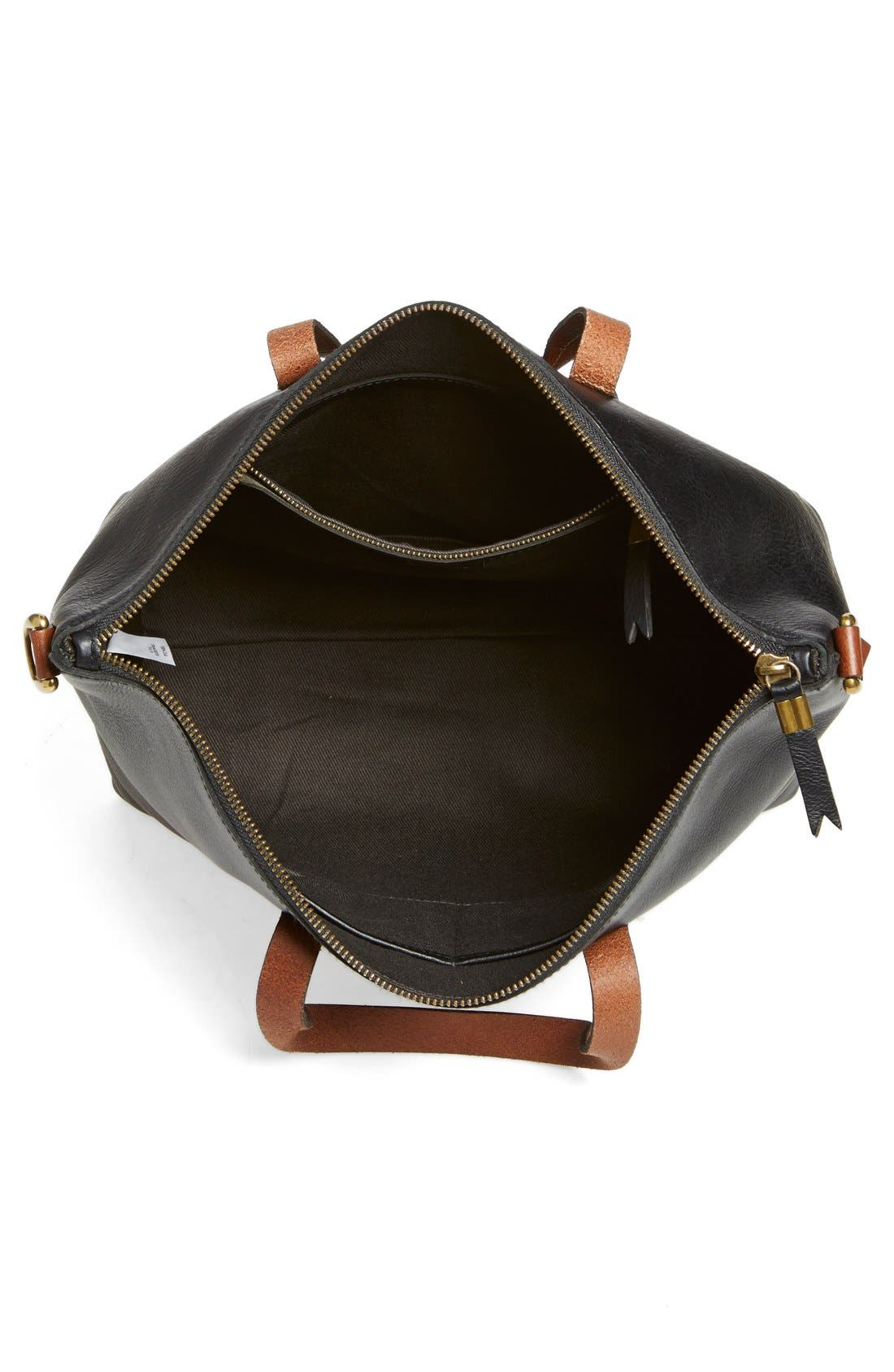 Leather Transport Satchel,                             Alternate thumbnail 2, color,                             001