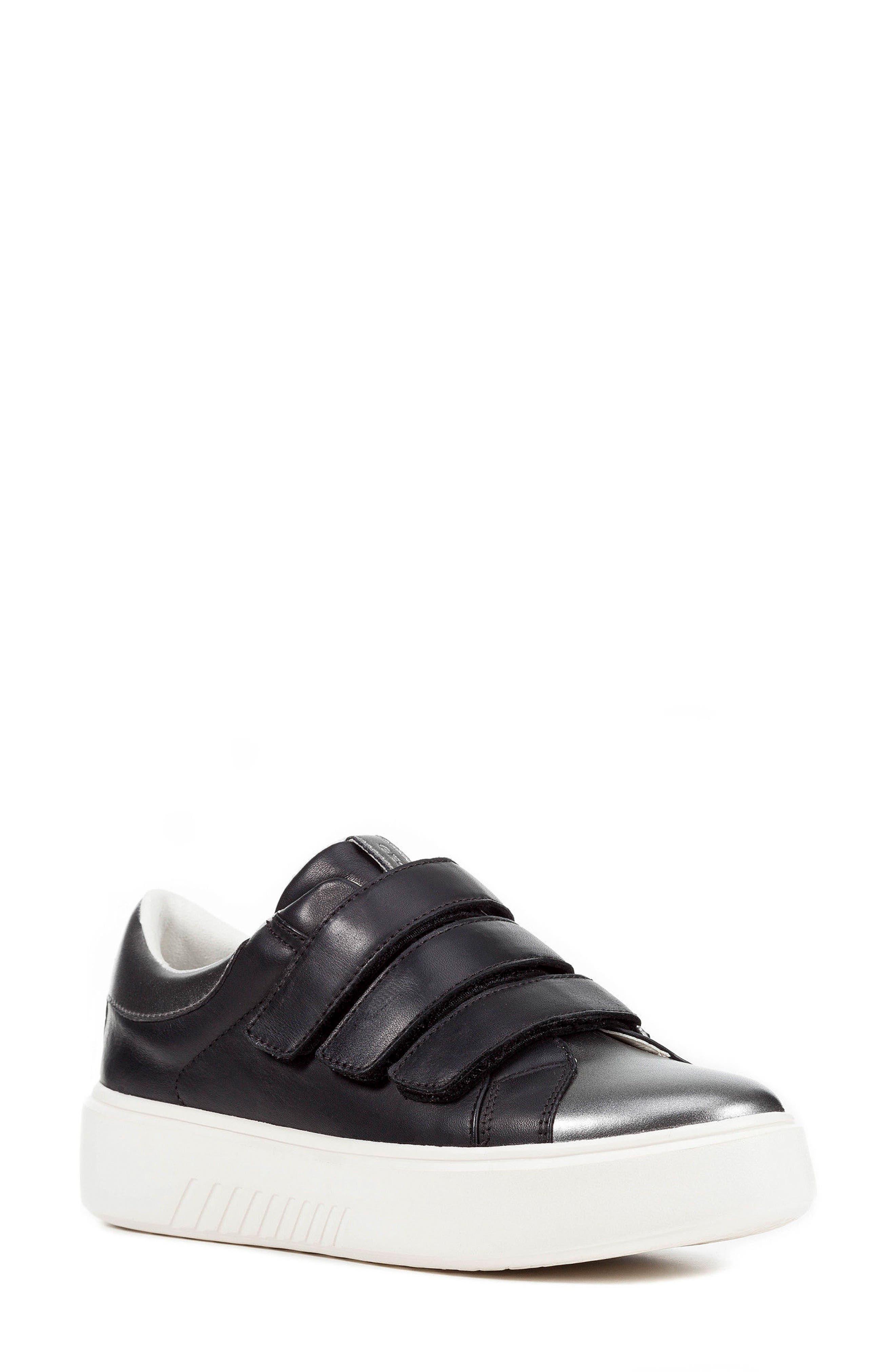 Nhenbus 3 Sneaker,                         Main,                         color, BLACK LEATHER