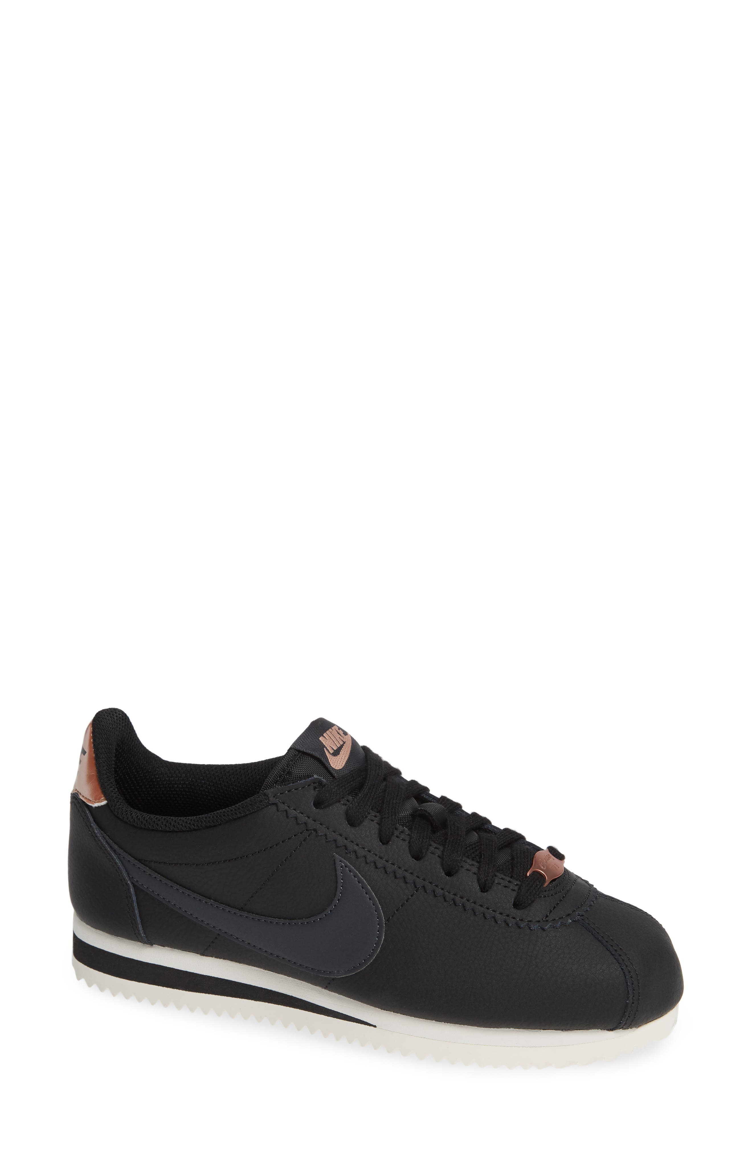 Classic Cortez Sneaker,                             Main thumbnail 1, color,                             BLACK/ METALLIC RED BRONZE