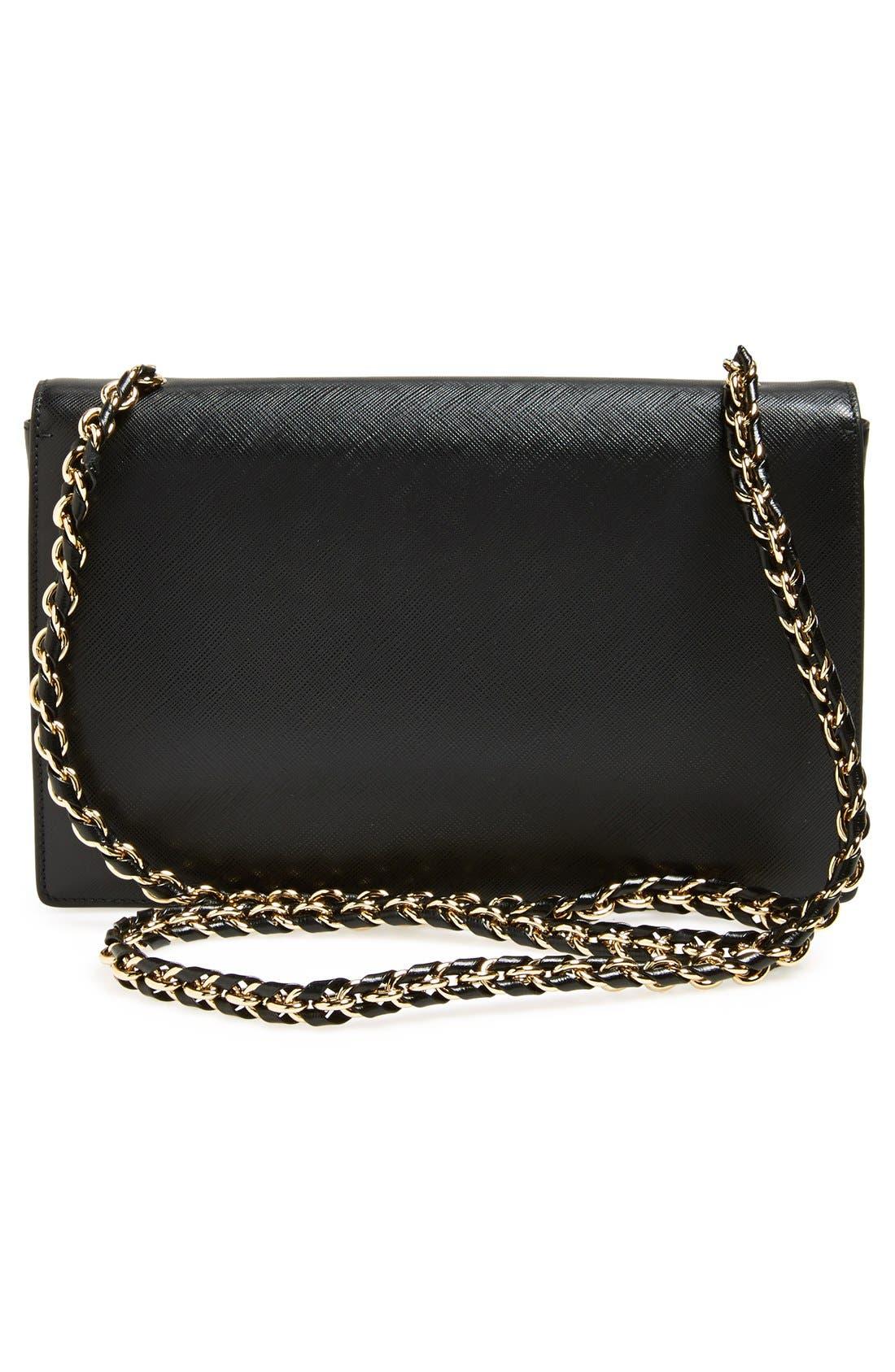 Saffiano Leather Shoulder Bag,                             Alternate thumbnail 14, color,