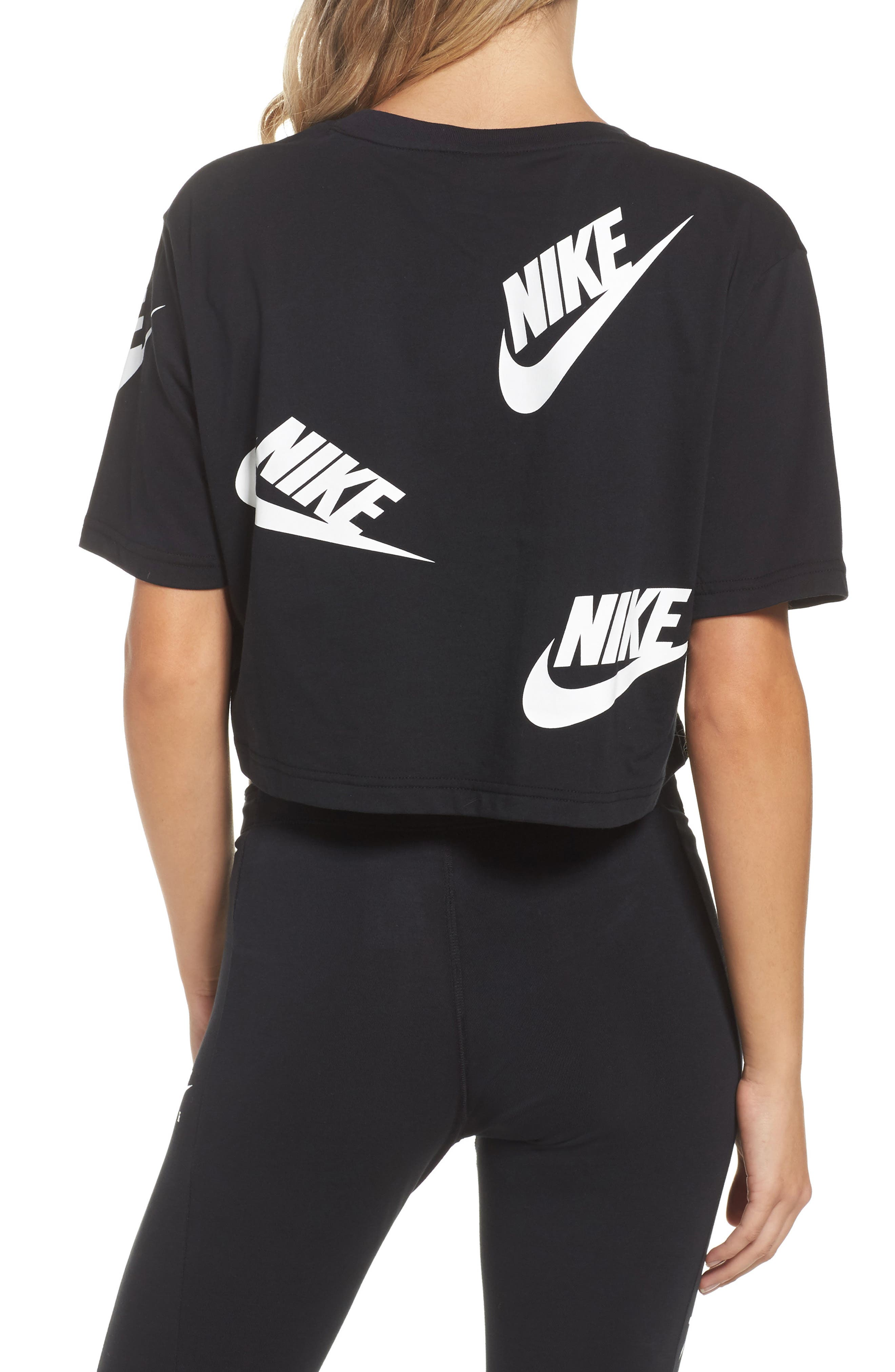 Sportswear Futura Crop Tee,                             Alternate thumbnail 2, color,                             010