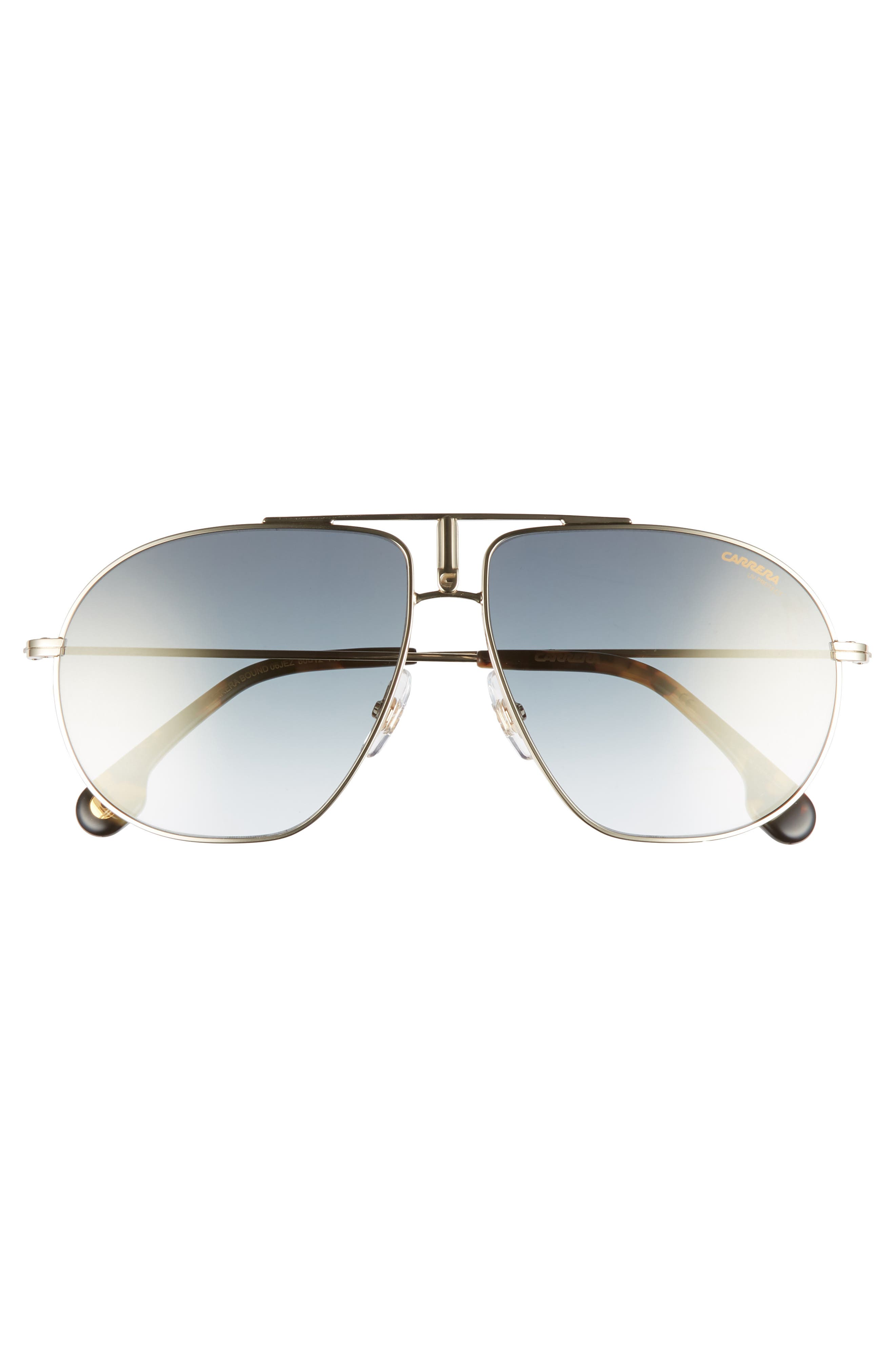 CARRERA EYEWEAR,                             Bounds 60mm Gradient Aviator Sunglasses,                             Alternate thumbnail 2, color,                             GOLD