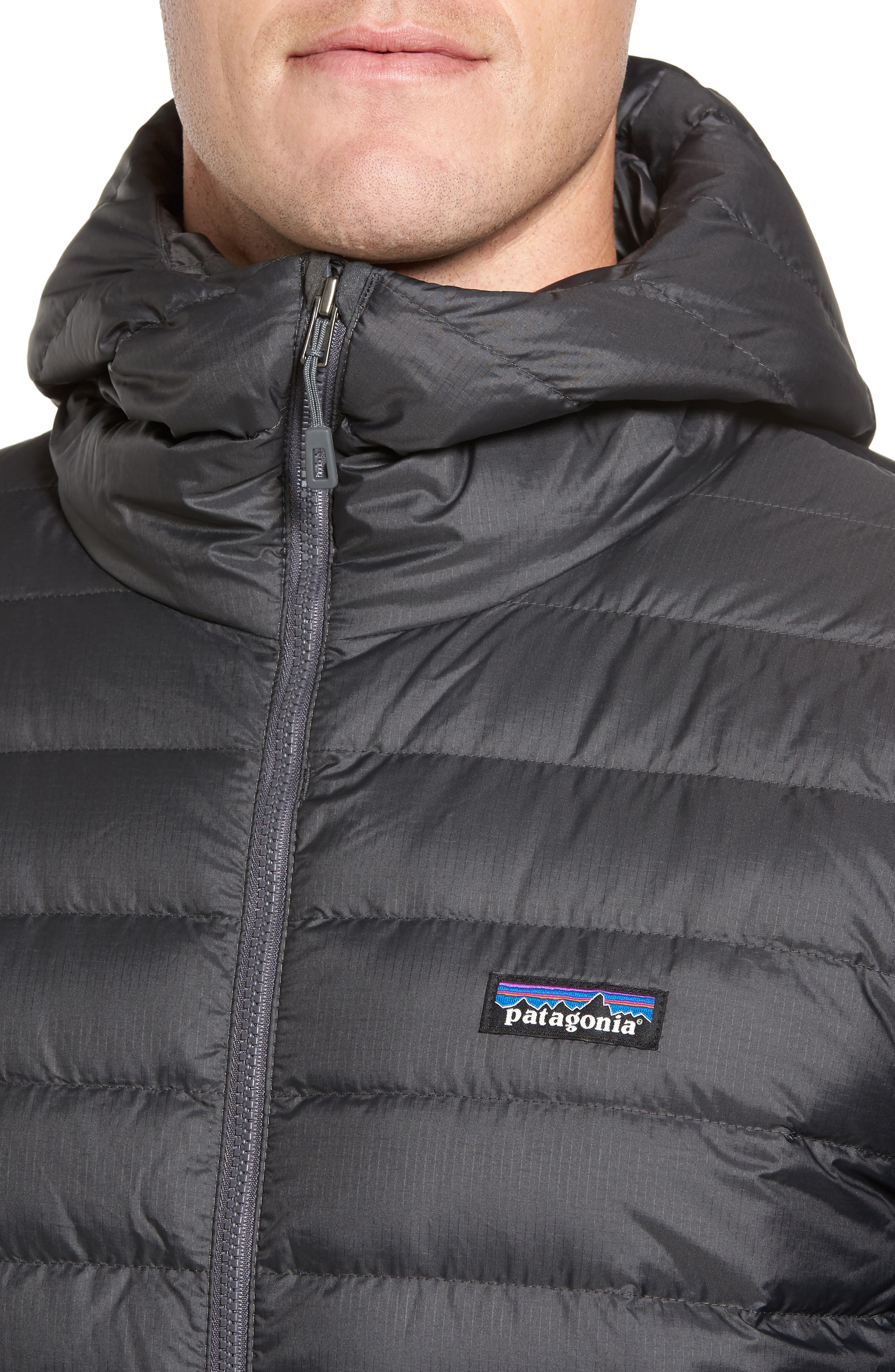 Packable Windproof & Water Resistant Goose Down Sweater Hooded Jacket,                             Alternate thumbnail 4, color,                             022