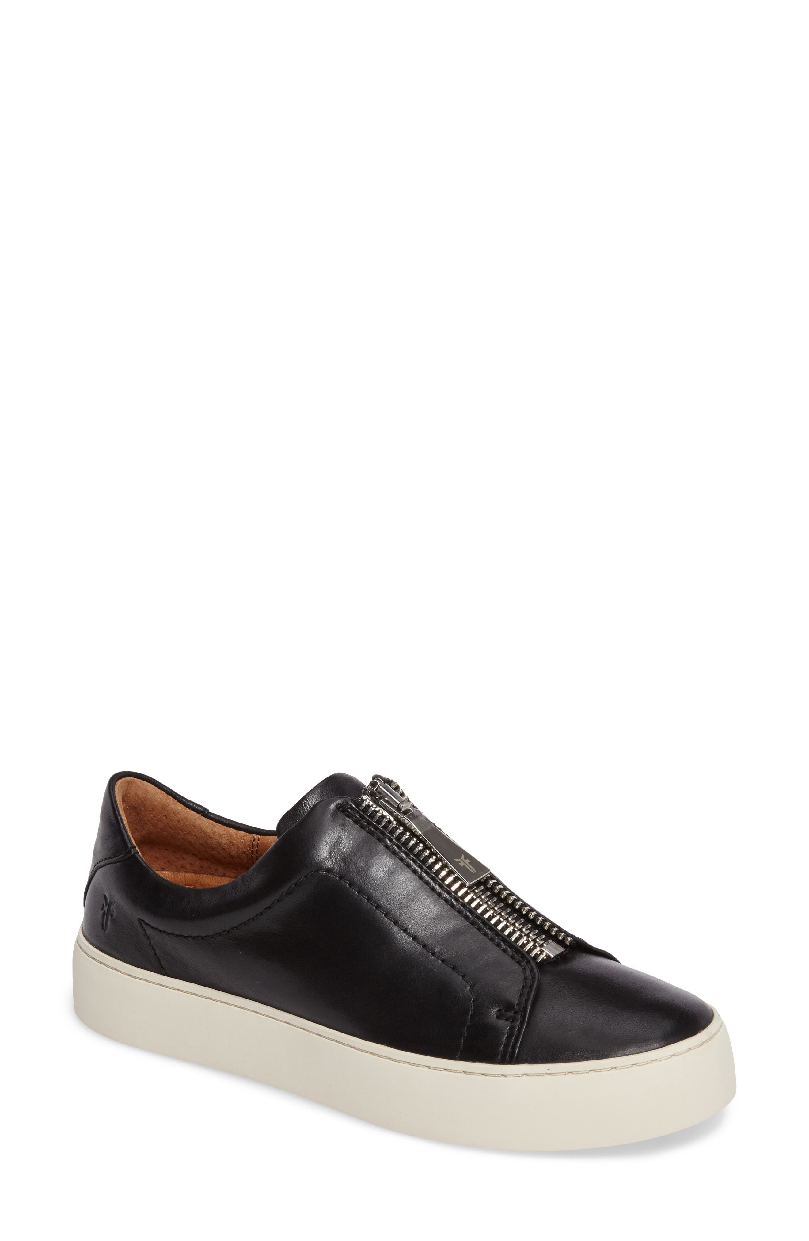 Lena Zip Platform Sneaker,                             Main thumbnail 1, color,                             NO_COLOR