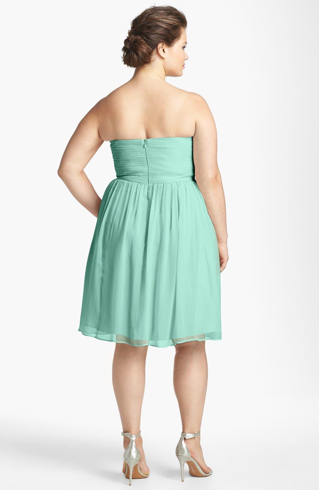 'Morgan' Strapless Silk Chiffon Dress,                             Alternate thumbnail 79, color,
