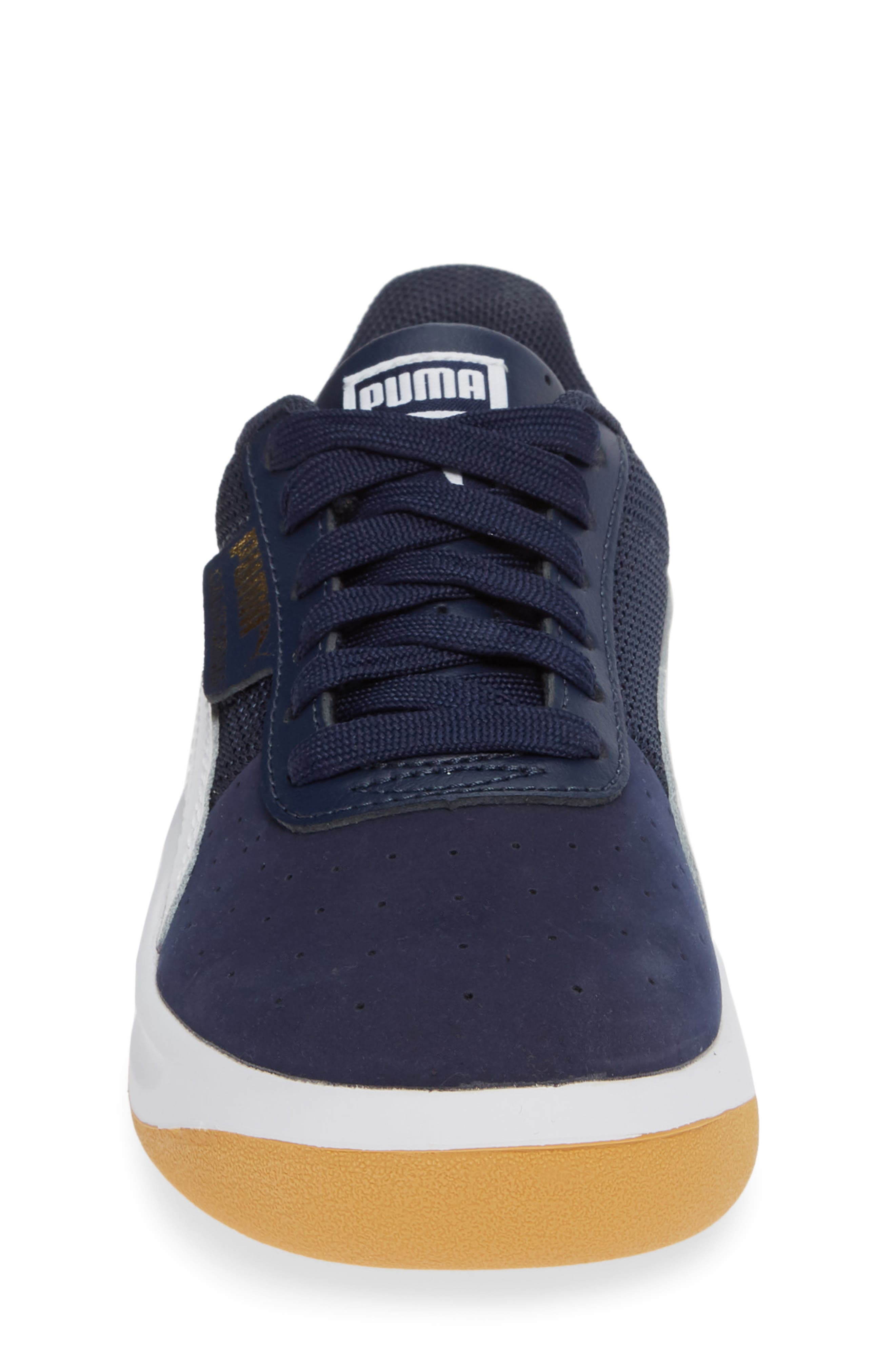 California Casual Jr. Sneaker,                             Alternate thumbnail 4, color,                             PEACOAT-PUMA WHITE-GOLD