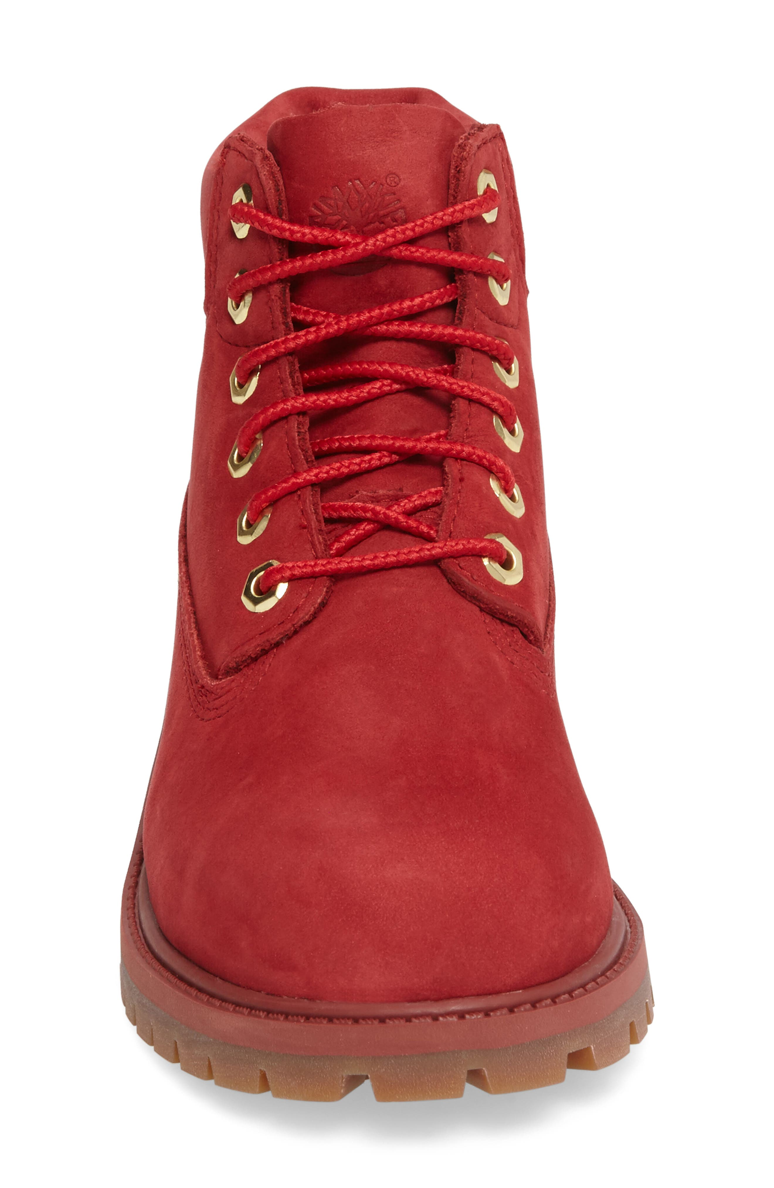 40th Anniversary Ruby Red Waterproof Boot,                             Alternate thumbnail 3, color,                             601