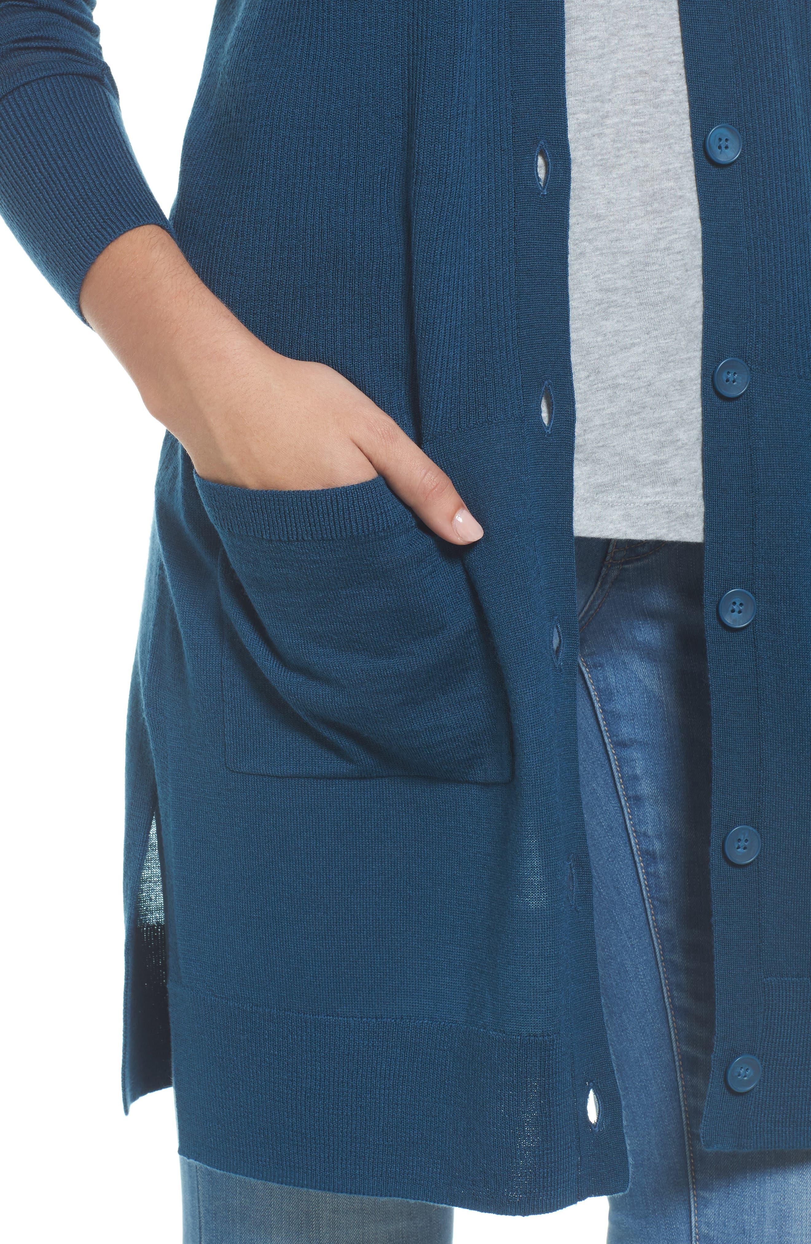 Rib Knit Wool Blend Cardigan,                             Alternate thumbnail 70, color,
