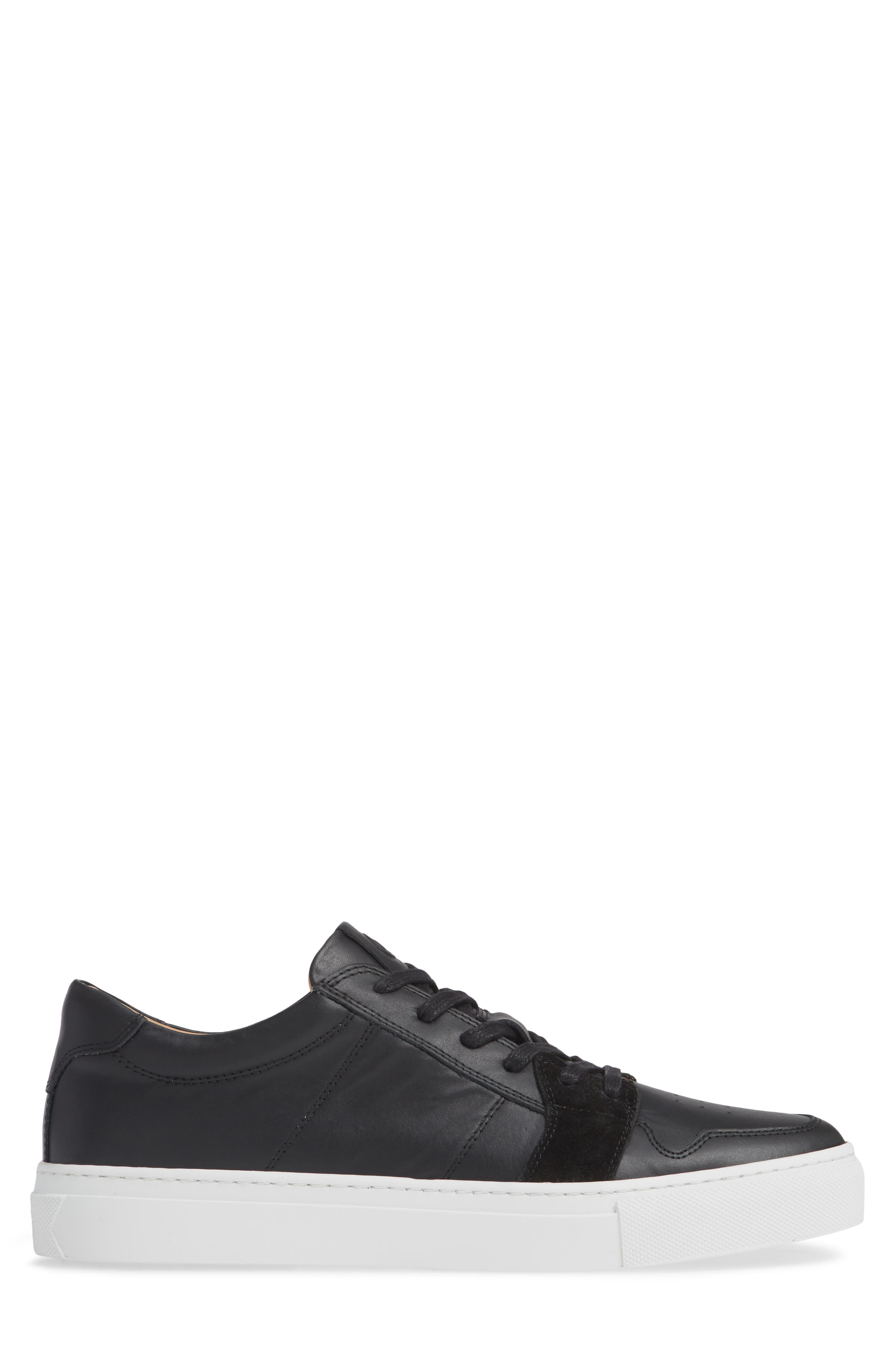 Nick Wooster x GREATS Court Low Top Sneaker,                             Alternate thumbnail 3, color,                             BLACK