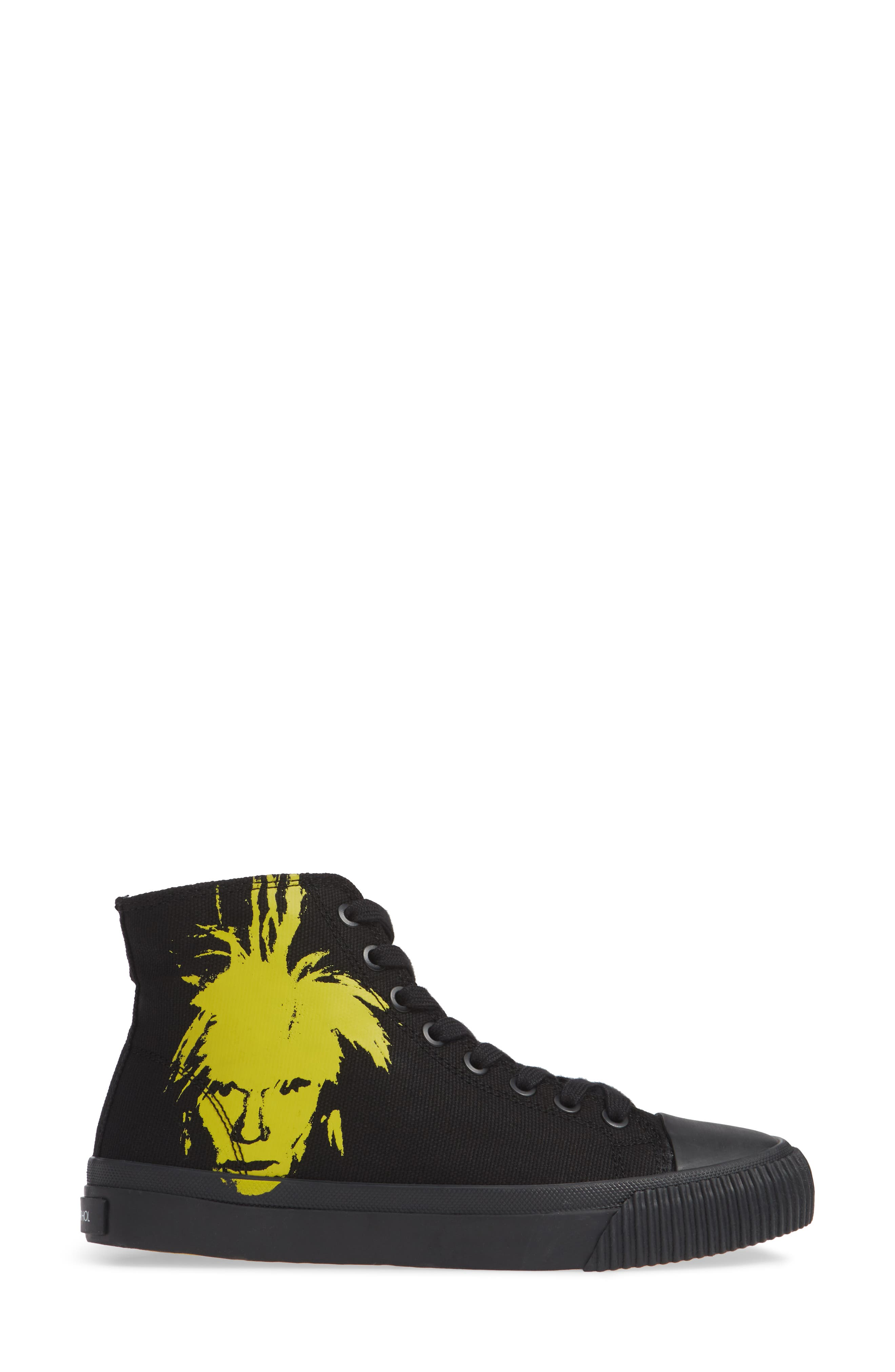 Iconica High Top Sneaker,                             Alternate thumbnail 3, color,                             001