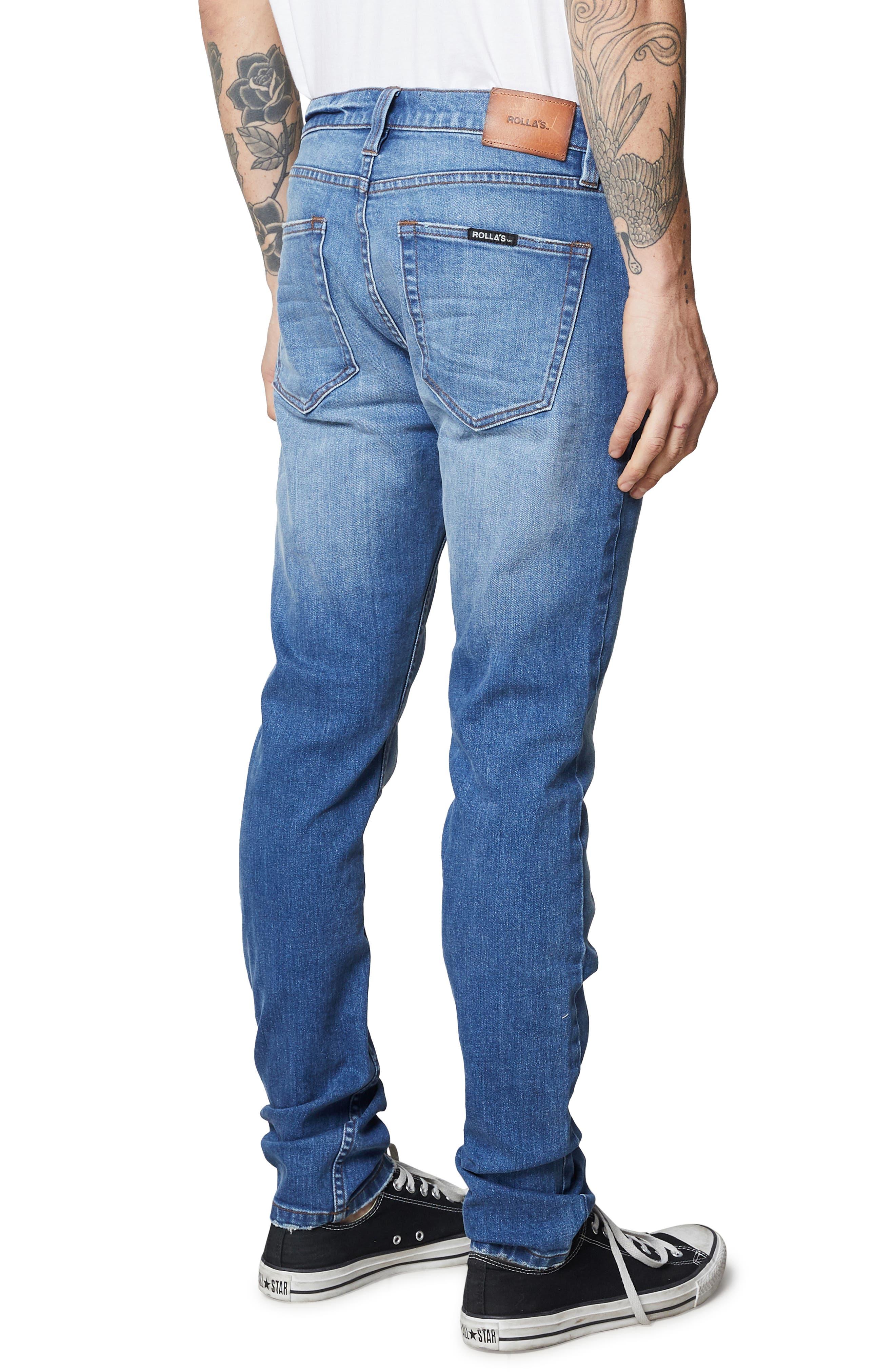 Stinger Skinny Fit Jeans,                             Alternate thumbnail 4, color,                             HOMESPUN CRUSH