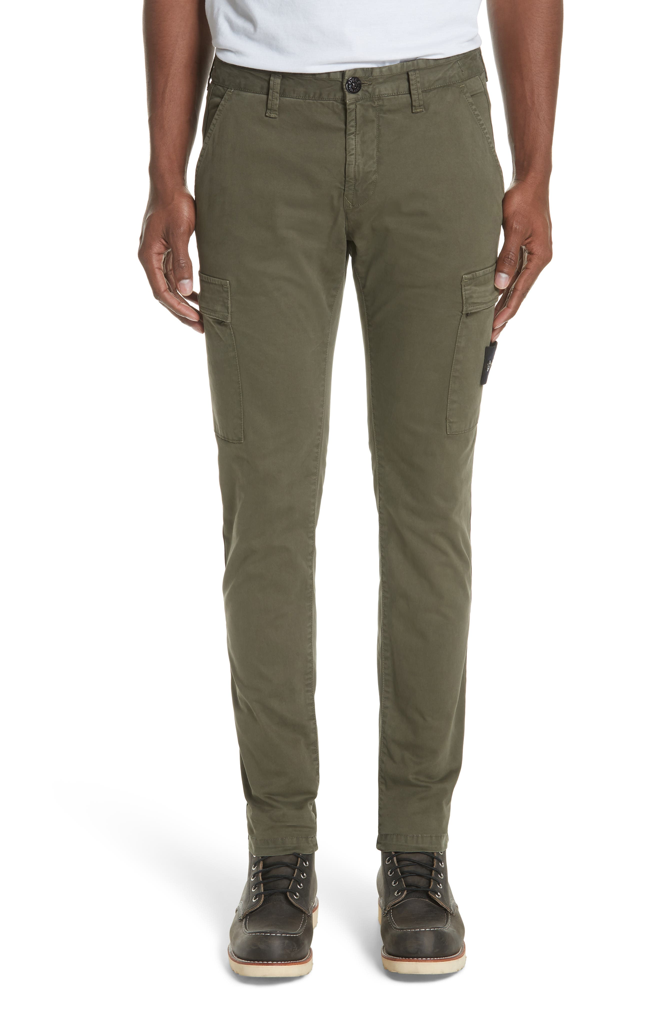 Slim Fit Cargo Chinos,                             Main thumbnail 1, color,                             400