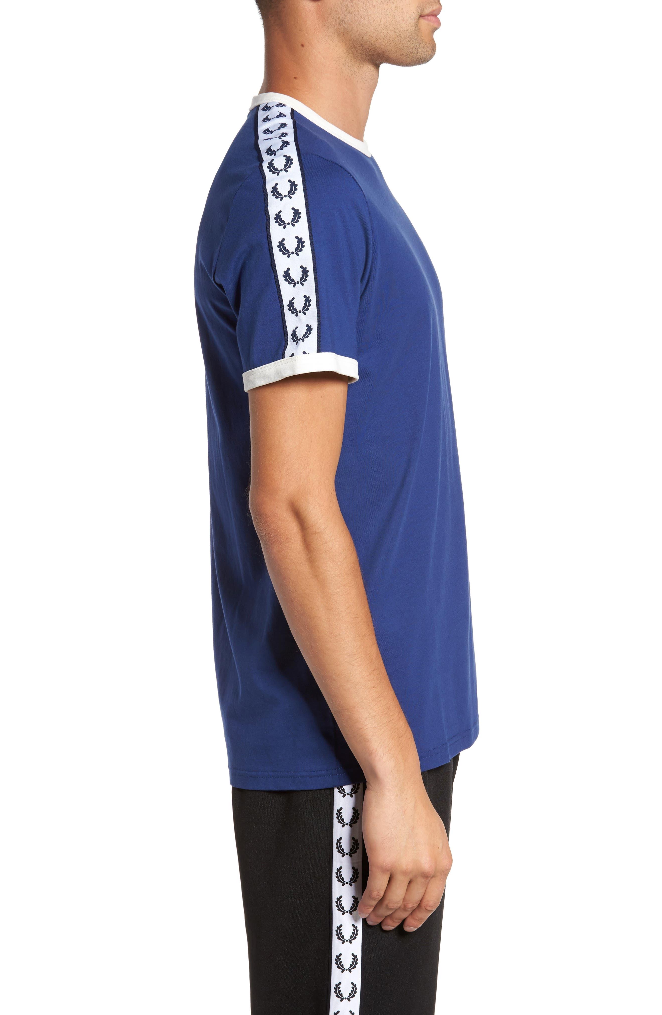 Extra Trim Fit Cotton Ringer T-Shirt,                             Alternate thumbnail 3, color,                             405