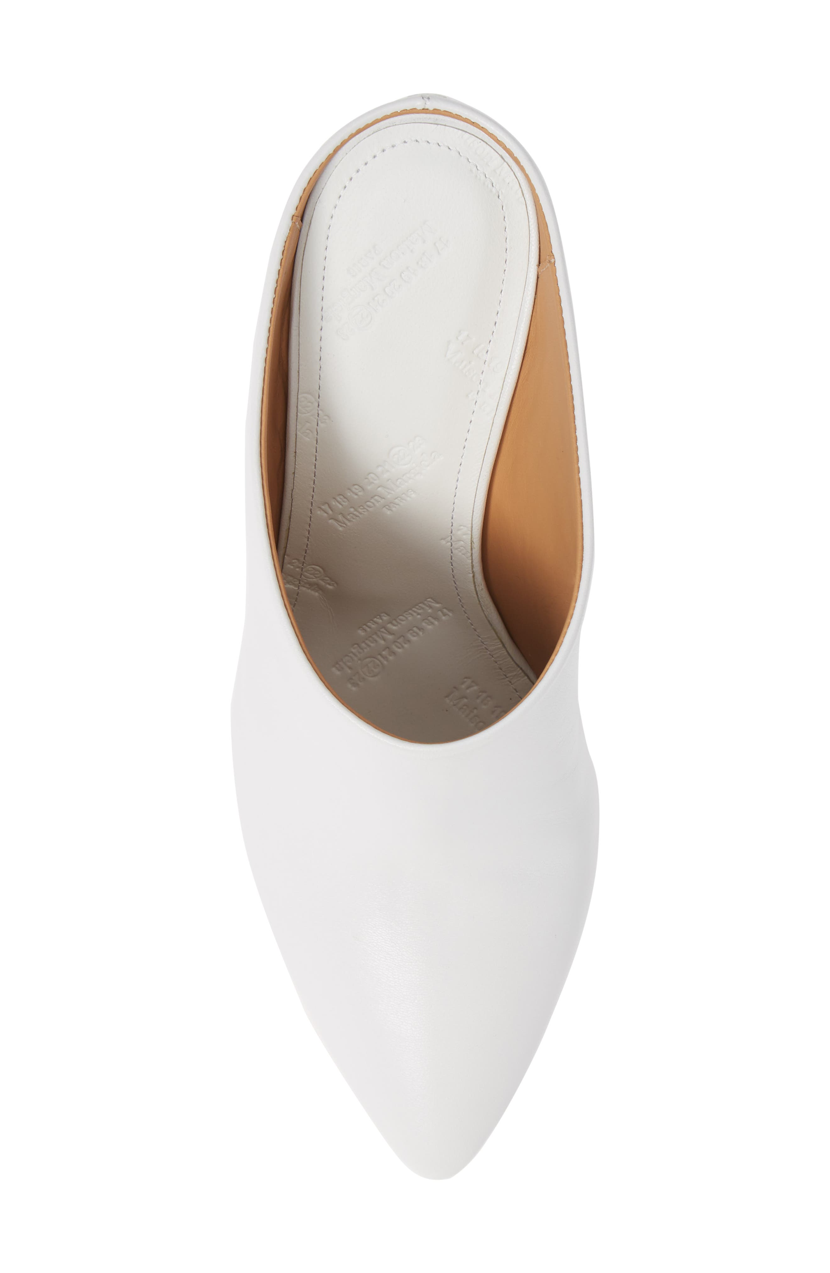 Pointy Toe Mule,                             Alternate thumbnail 5, color,                             WHITE