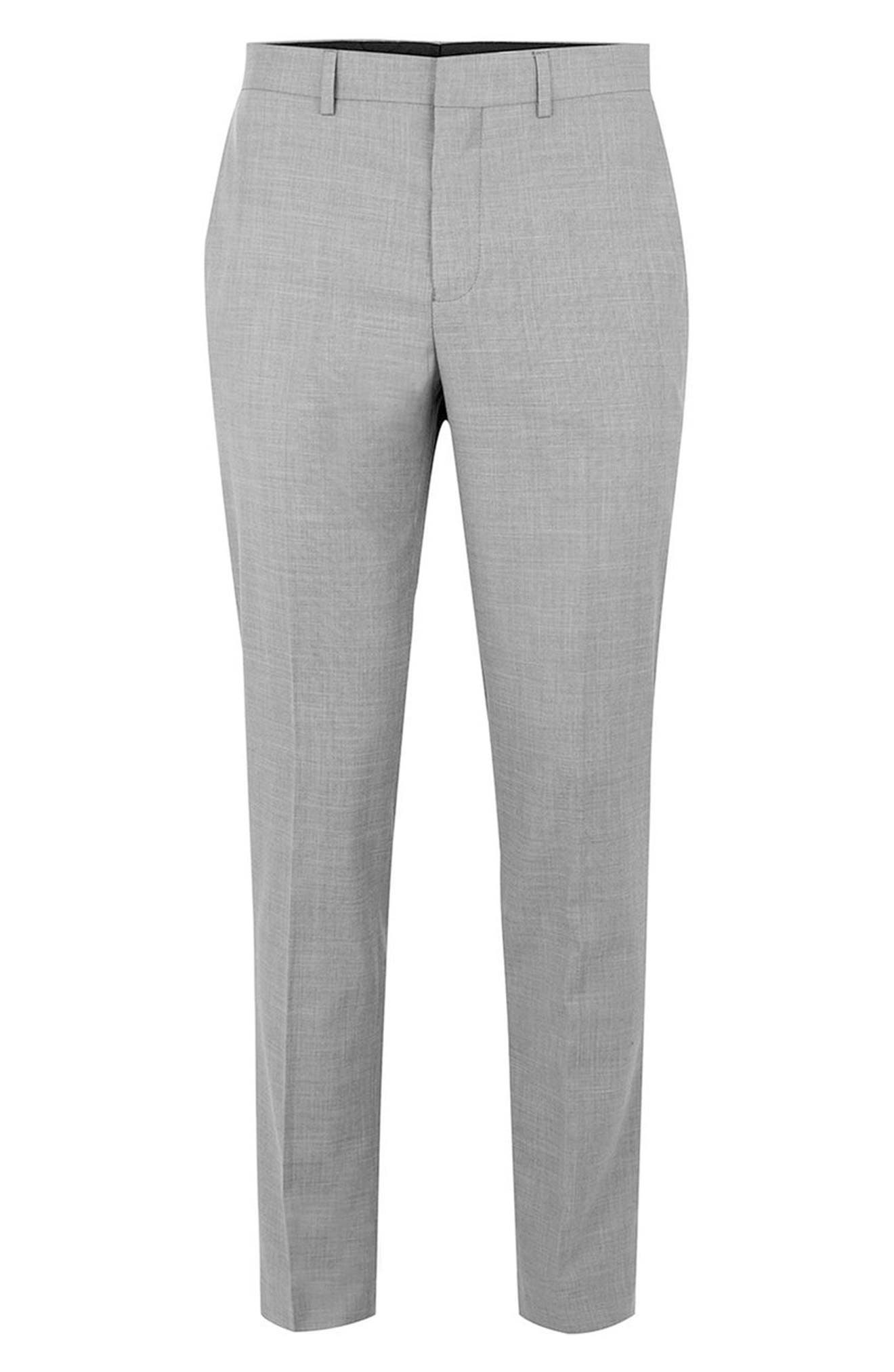 Como Skinny Fit Grey Suit Pants,                             Alternate thumbnail 4, color,                             GREY