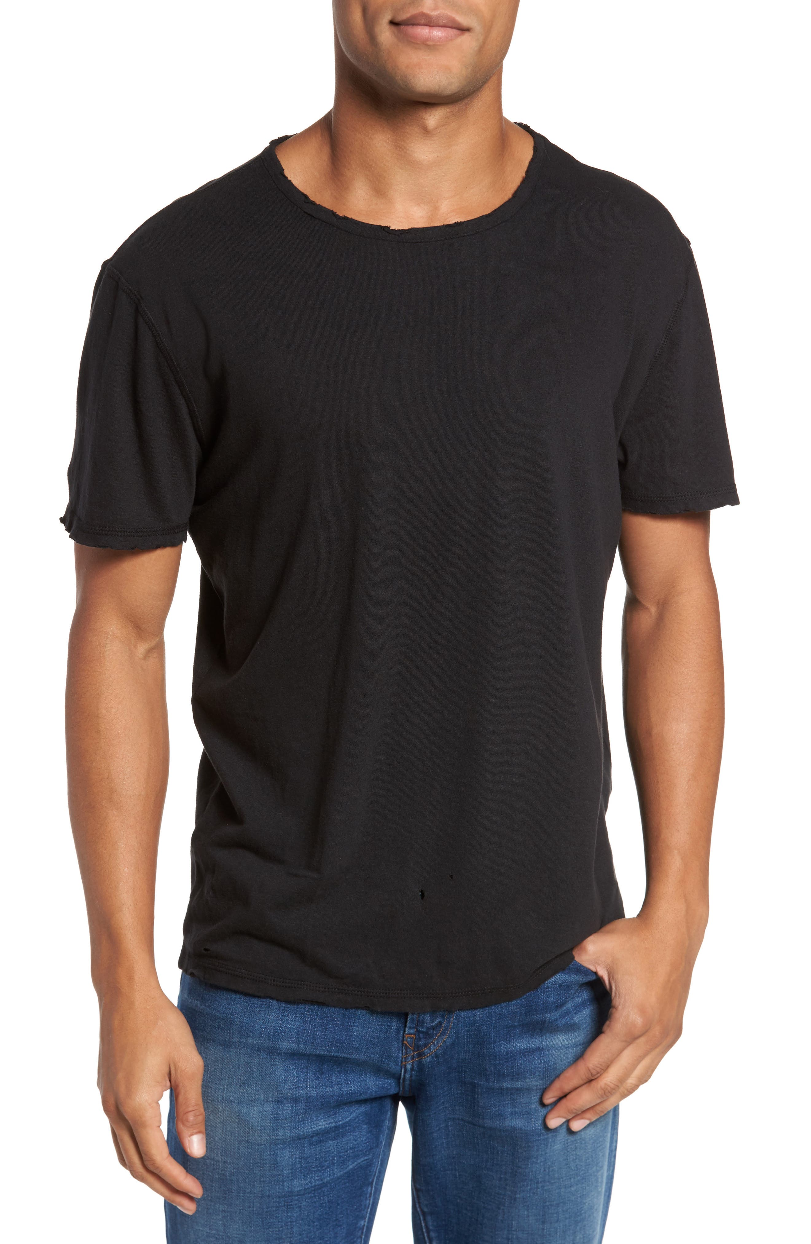 Ramsey Shredded Hem T-Shirt,                             Main thumbnail 1, color,                             015
