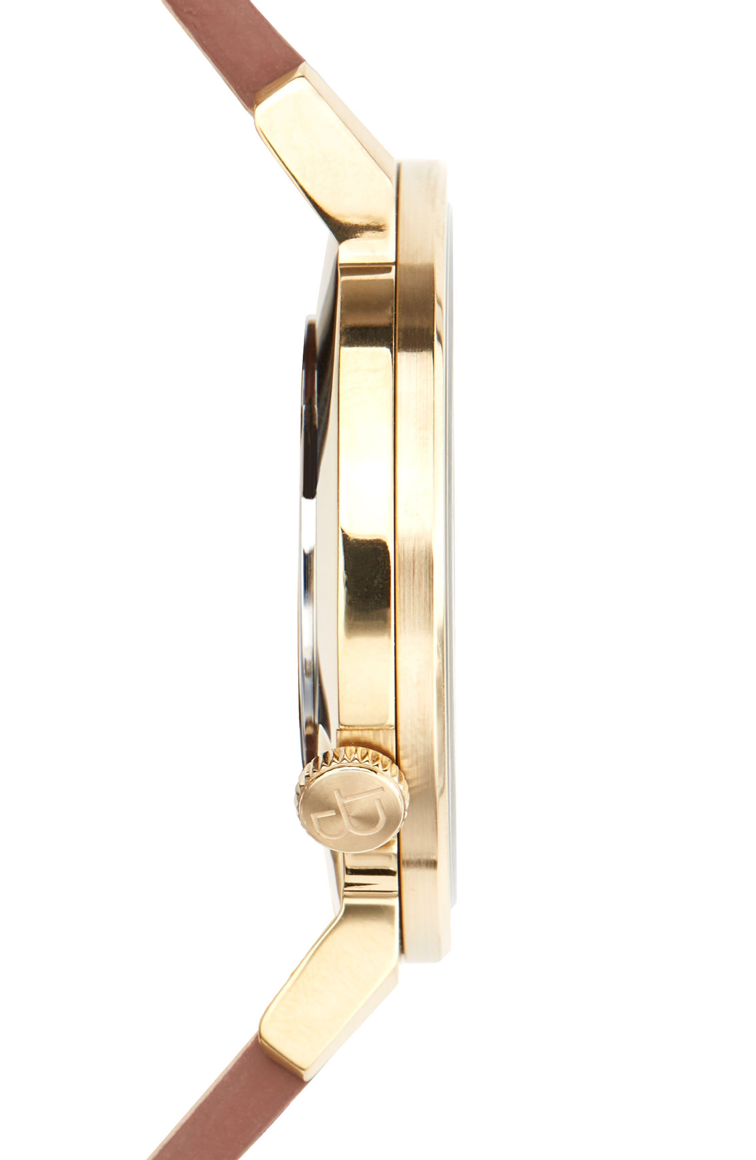 Davis Leather Strap Watch, 40mm,                             Alternate thumbnail 3, color,                             200