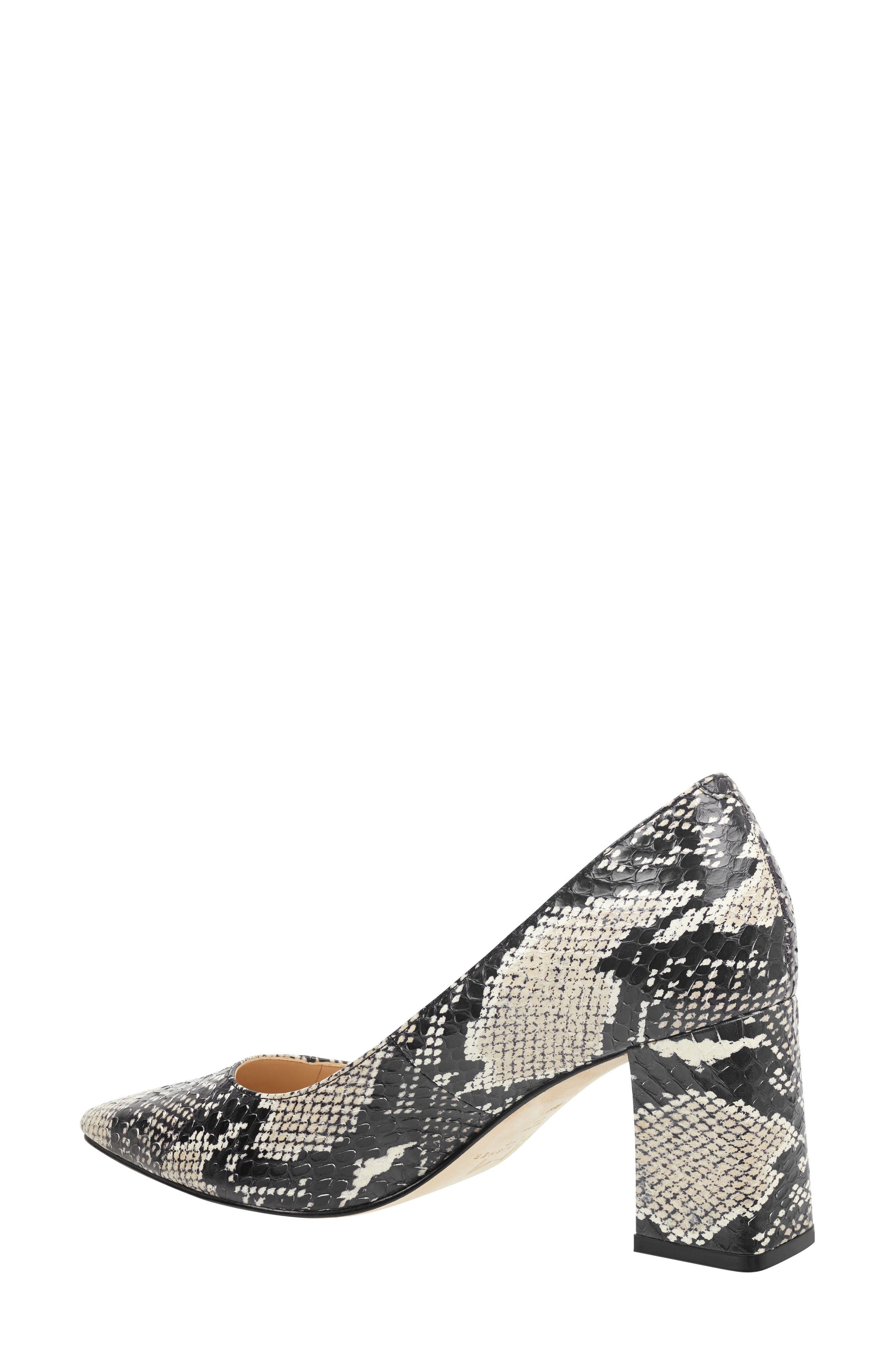 'Zala' Pump,                             Alternate thumbnail 2, color,                             BEIGE/ BLACK SNAKE PRINT