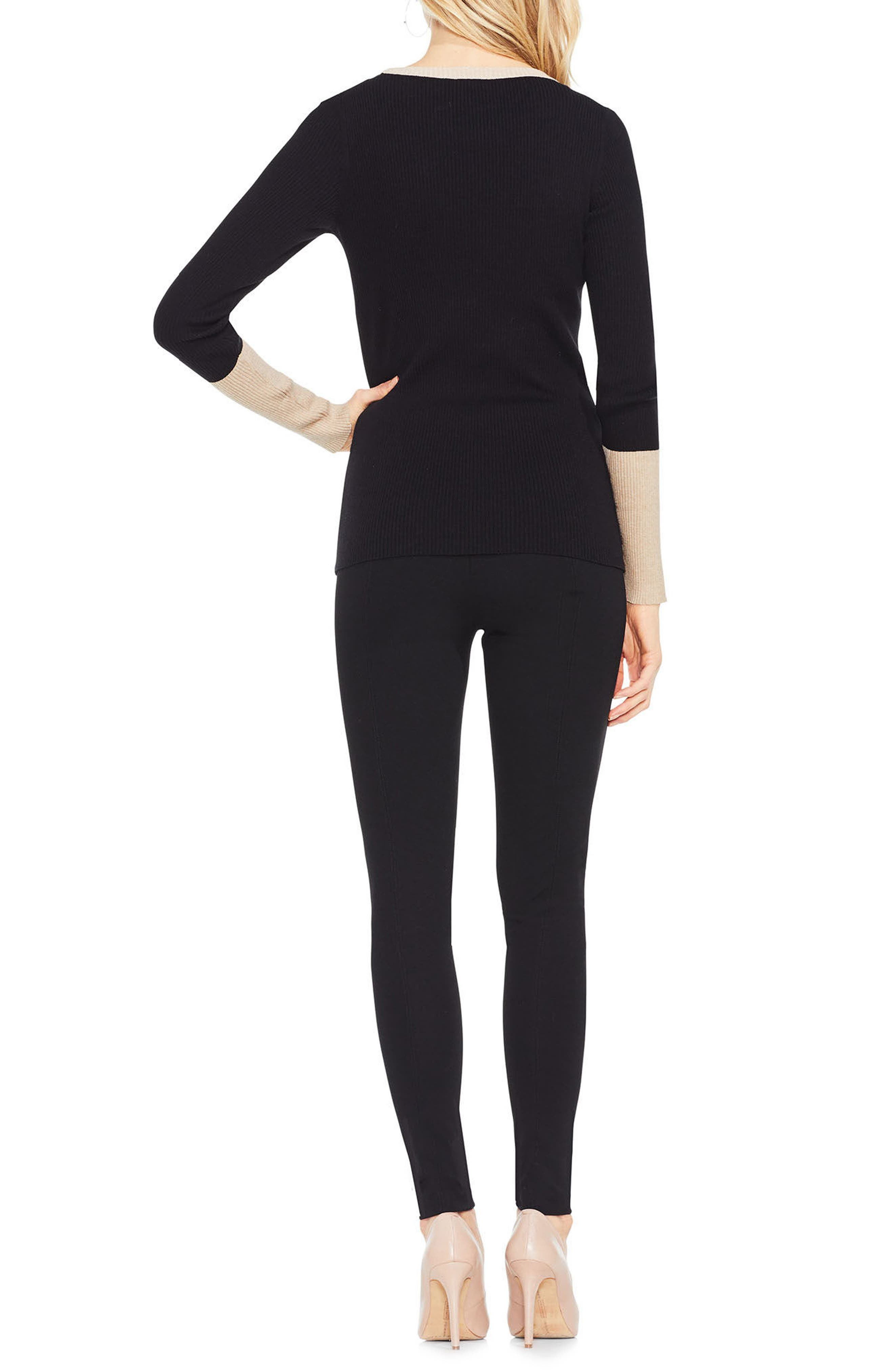 Colorblock Ribbed Sweater,                             Alternate thumbnail 5, color,