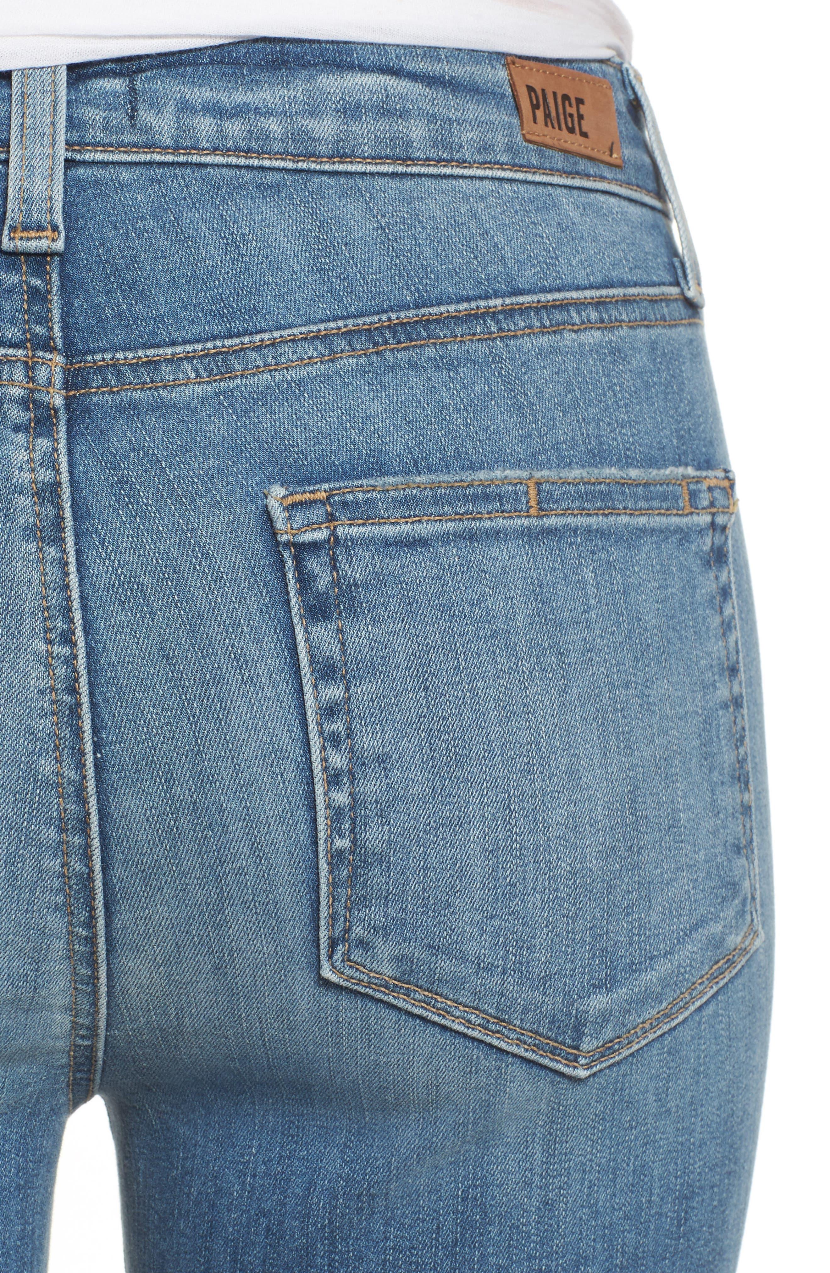 Transcend Vintage - Hoxton High Waist Crop Jeans,                             Alternate thumbnail 5, color,                             400