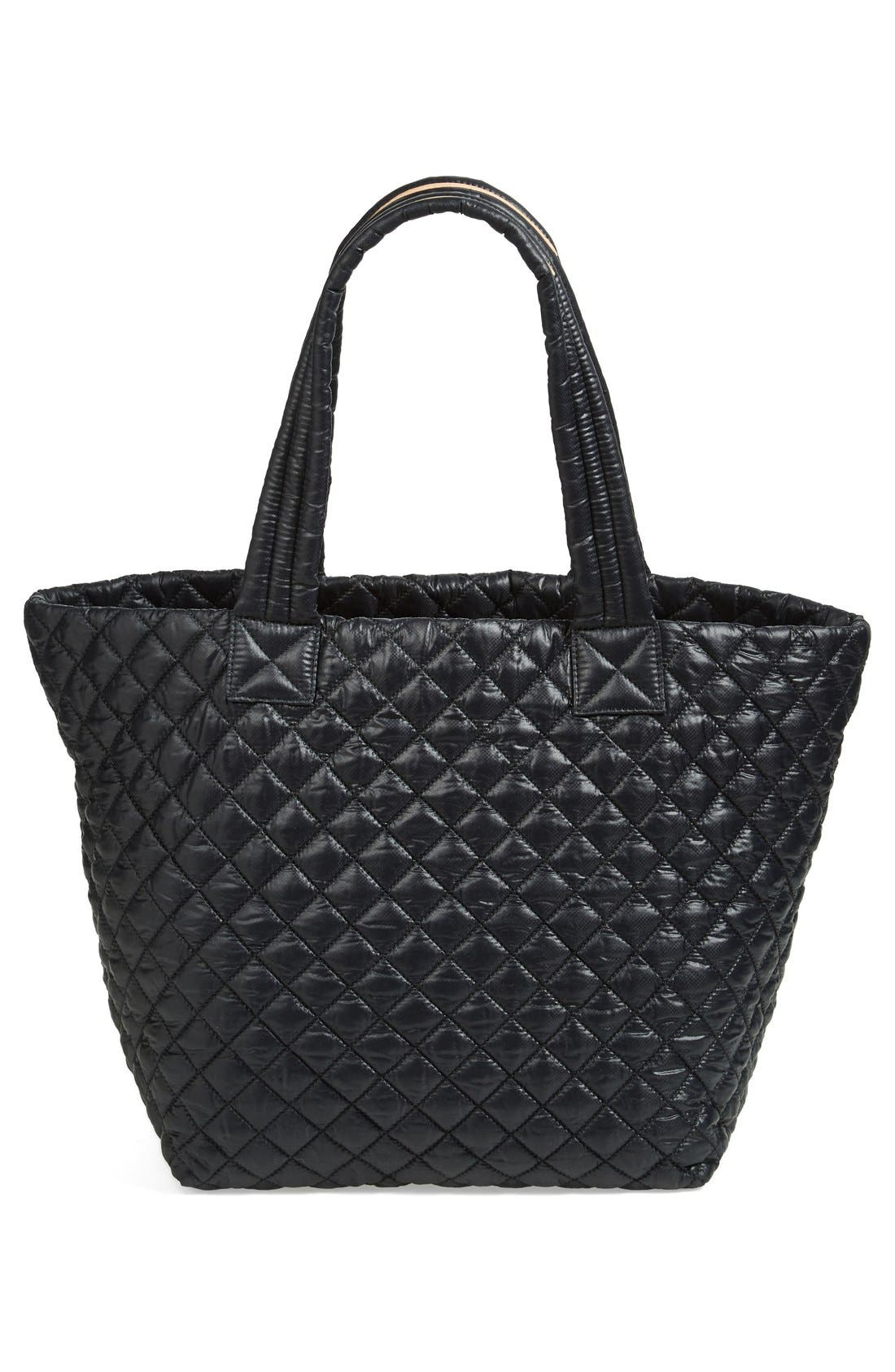 Medium Metro Tote,                             Alternate thumbnail 8, color,                             BLACK