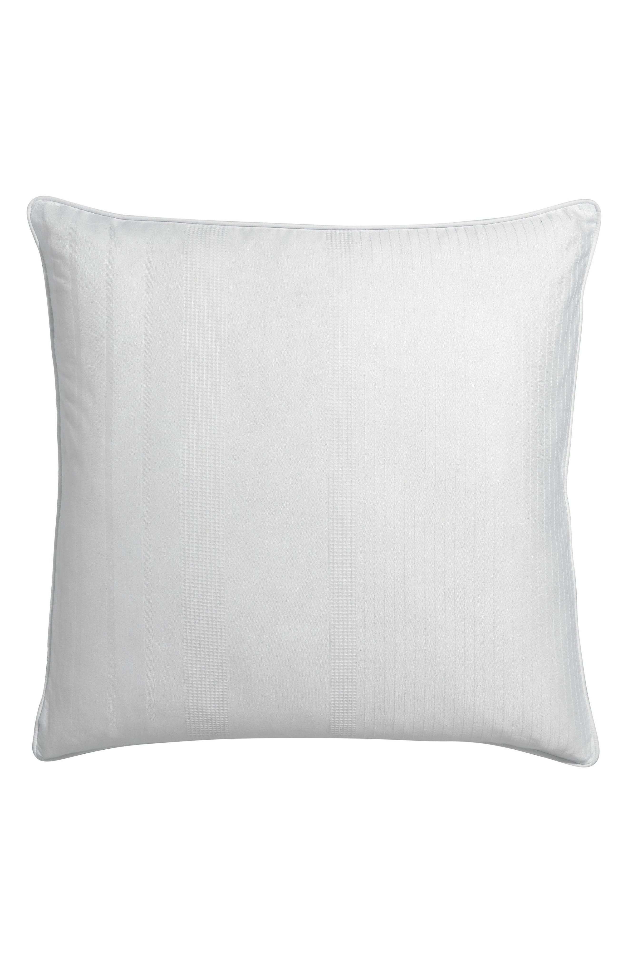 Sloane Square Organic Cotton Dobby Accent Pillow,                             Main thumbnail 1, color,                             100