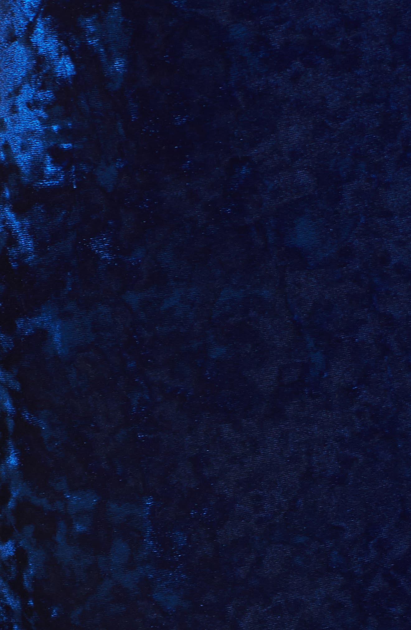 Cleo Strappy Back Velvet Gown,                             Alternate thumbnail 5, color,                             454