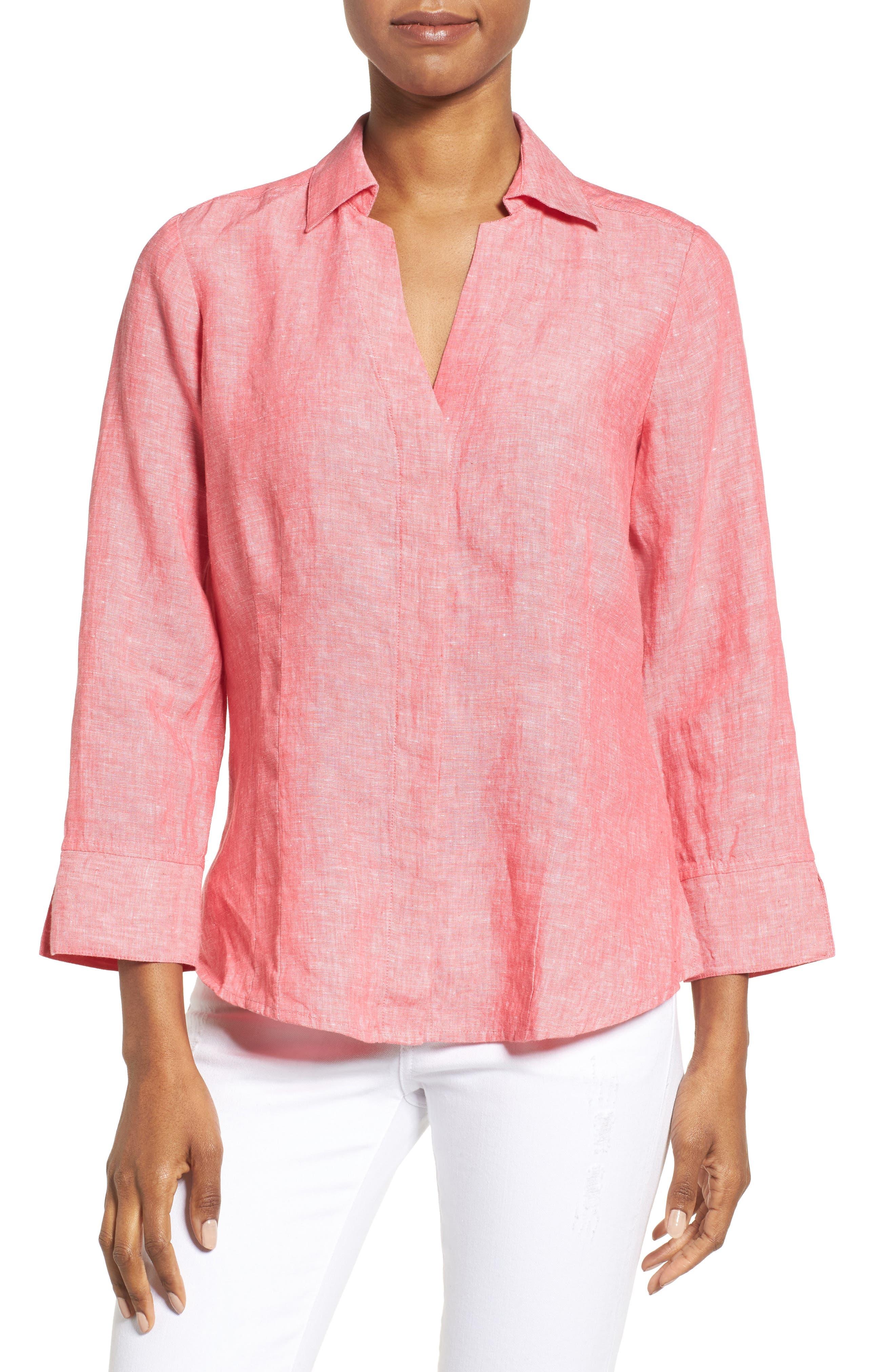 Linen Chambray Shirt,                             Main thumbnail 7, color,