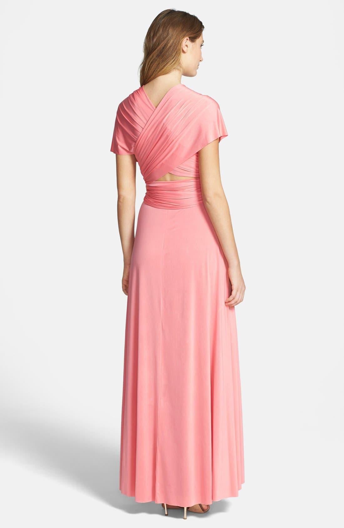 Convertible Wrap Tie Surplice Jersey Gown,                             Alternate thumbnail 45, color,