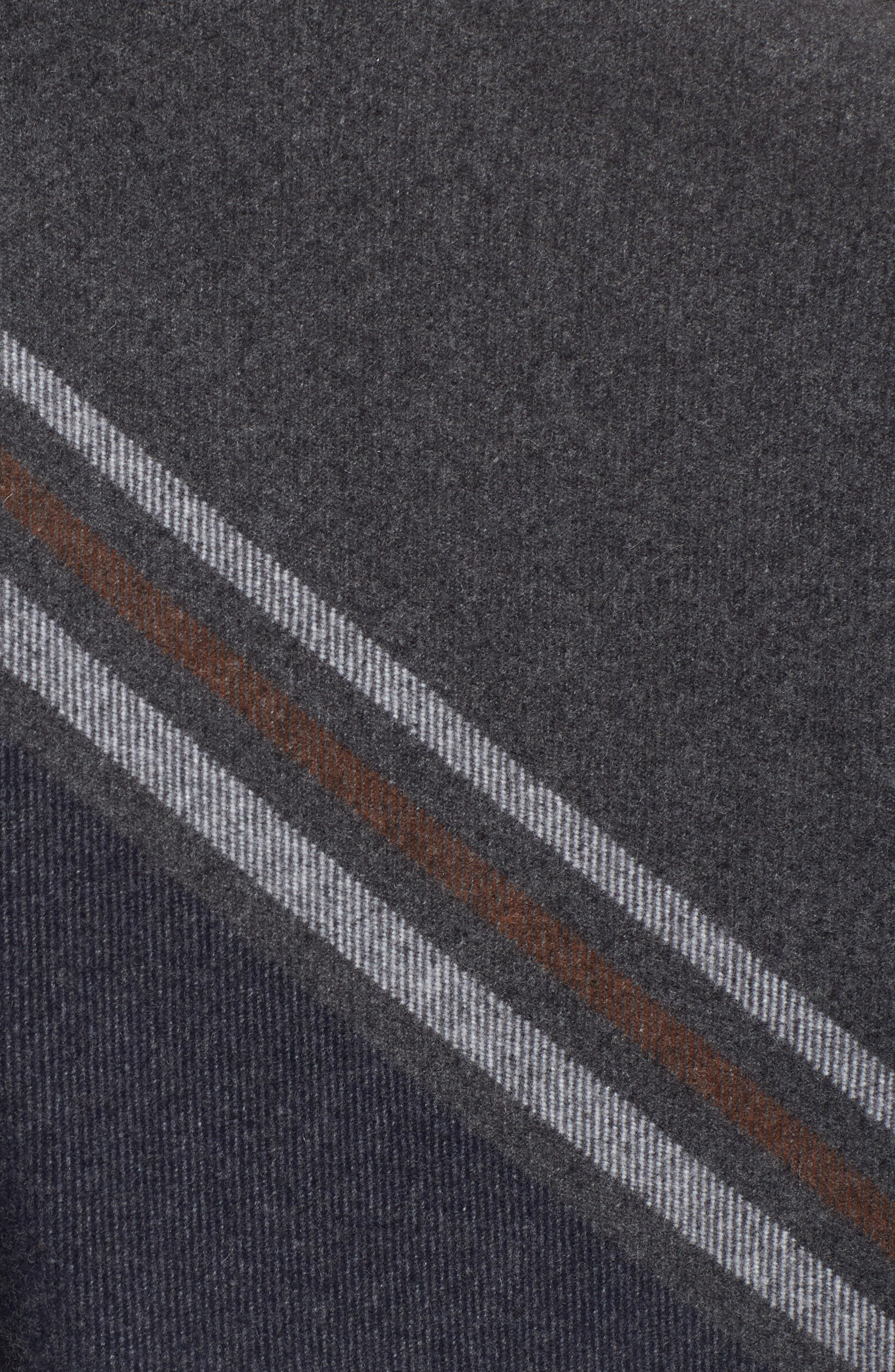 Addison Stripe Wool Wrap,                             Alternate thumbnail 5, color,                             020