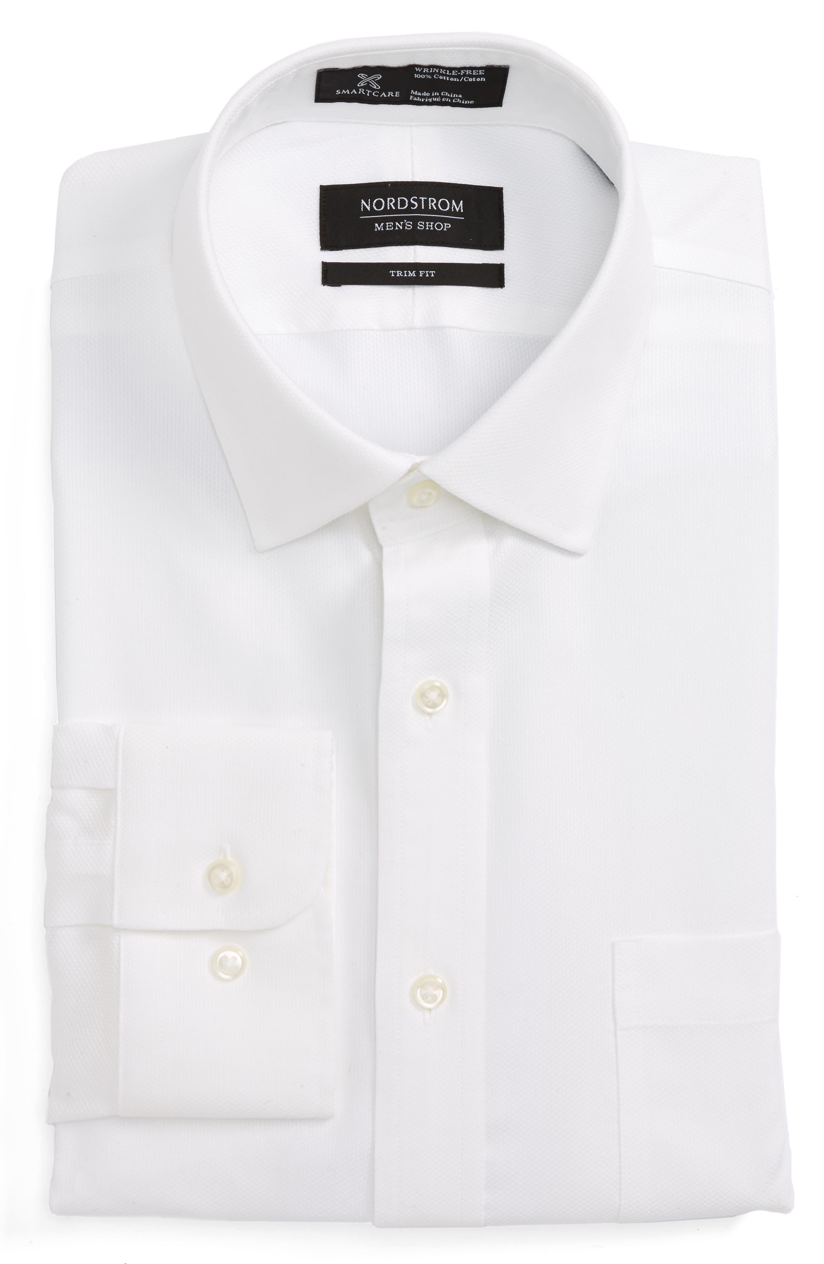 Smartcare<sup>™</sup> Trim Fit Solid Dress Shirt,                             Main thumbnail 1, color,