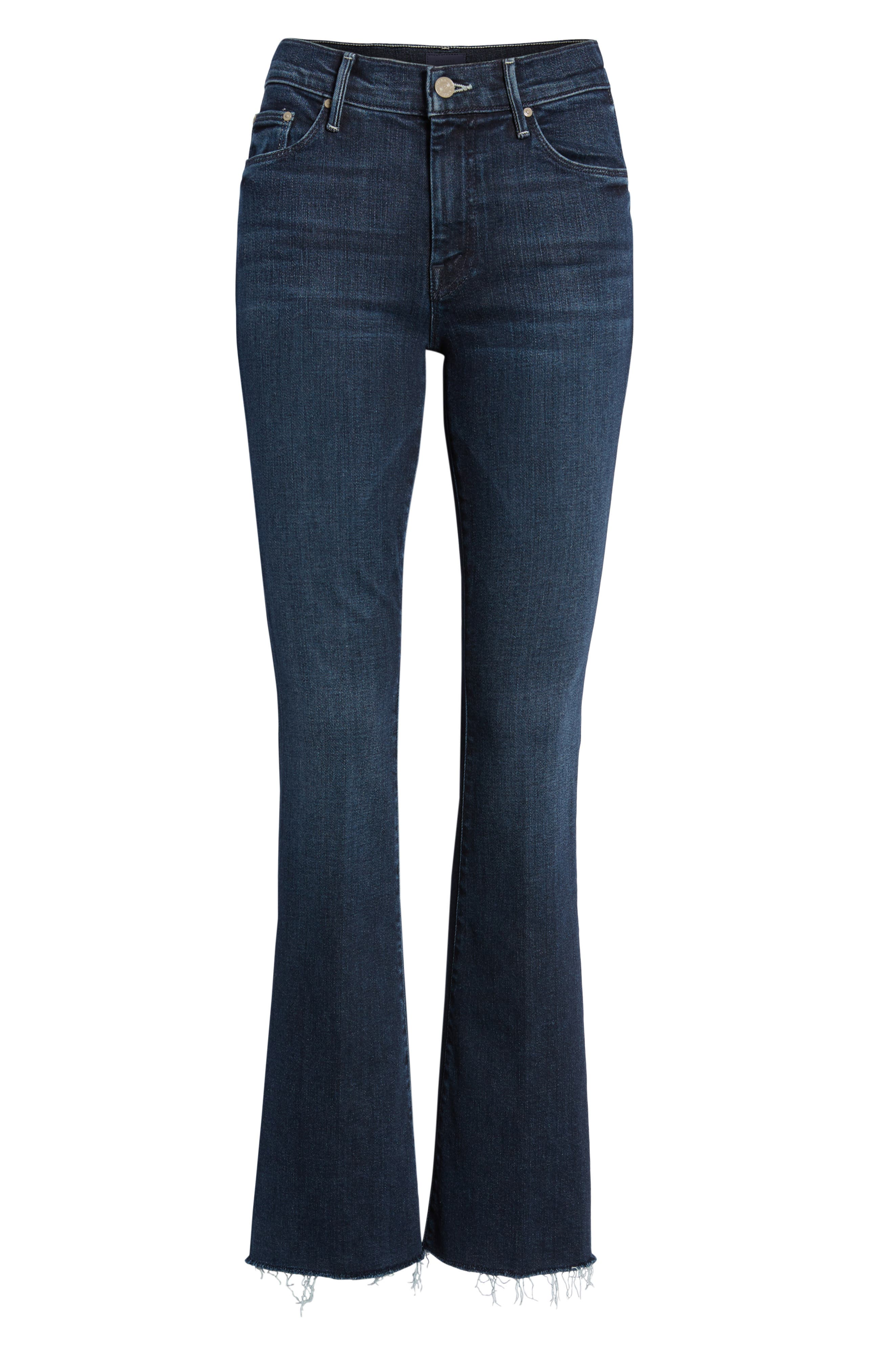 Frayed Bootcut Jeans,                             Alternate thumbnail 7, color,                             DISCO DOLLS