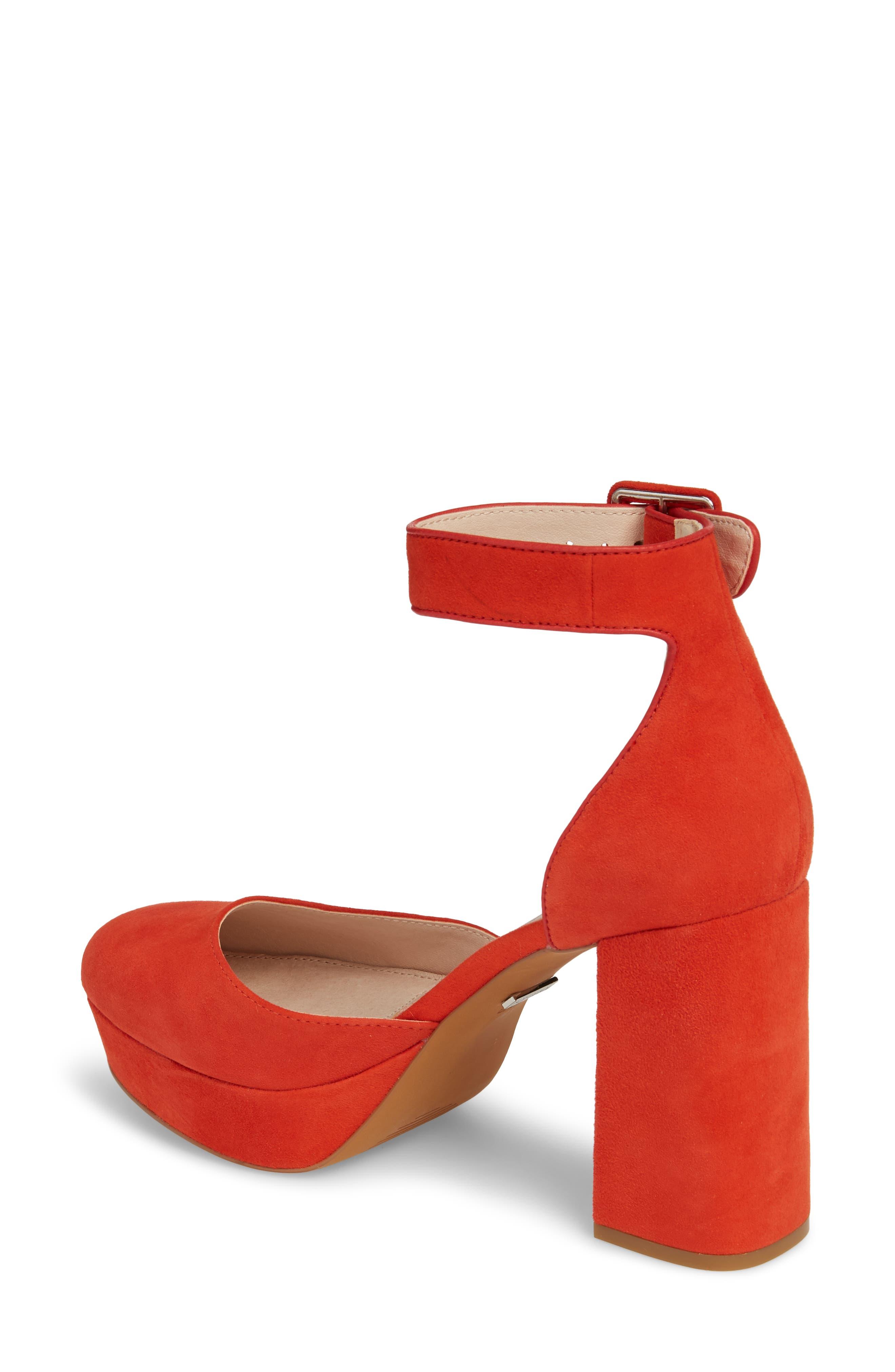 Ankle Strap Platform Sandal,                             Alternate thumbnail 4, color,
