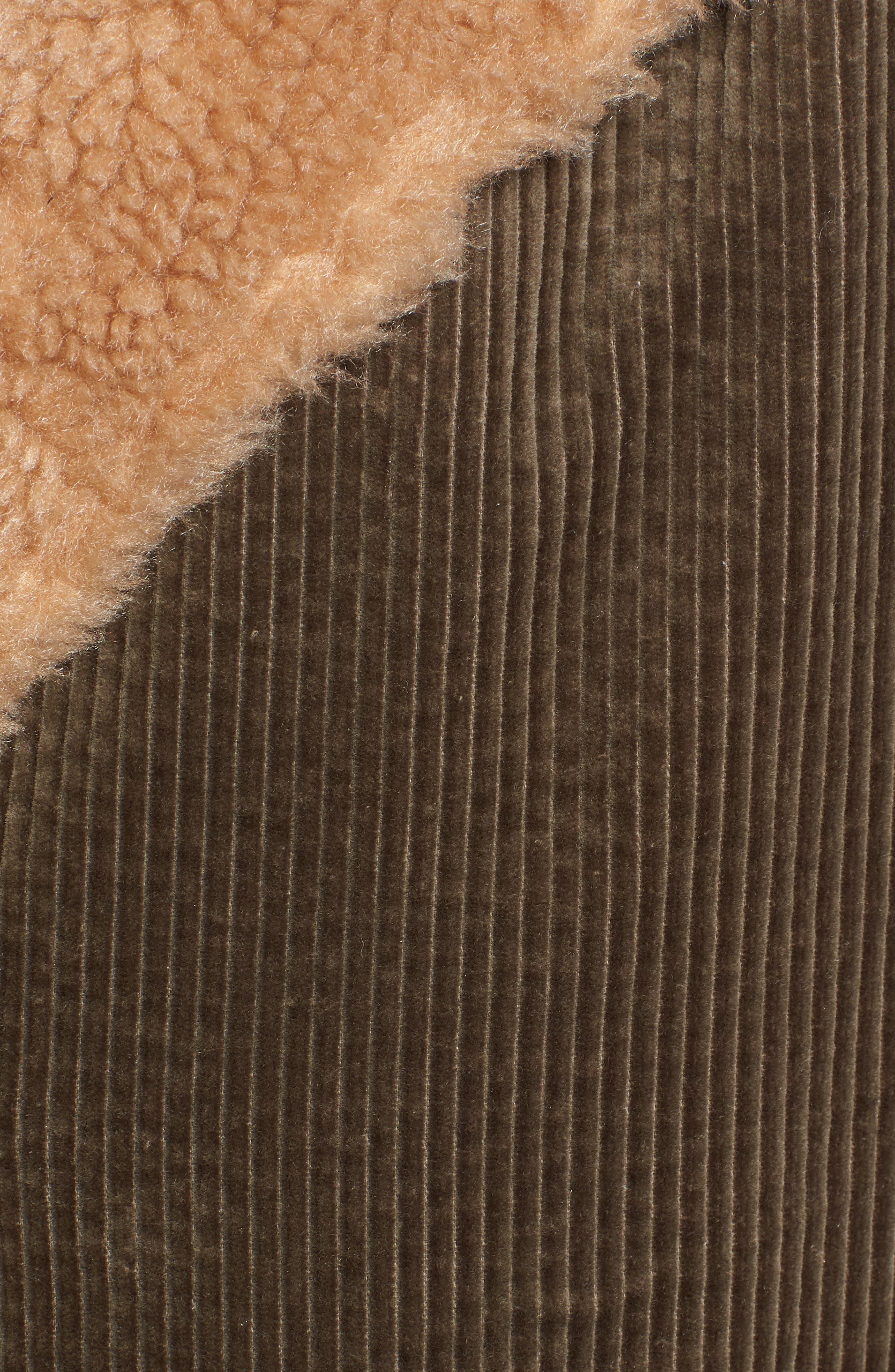AVEC LES FILLES,                             Corduroy & Faux Shearling Trim Jacket,                             Alternate thumbnail 6, color,                             301